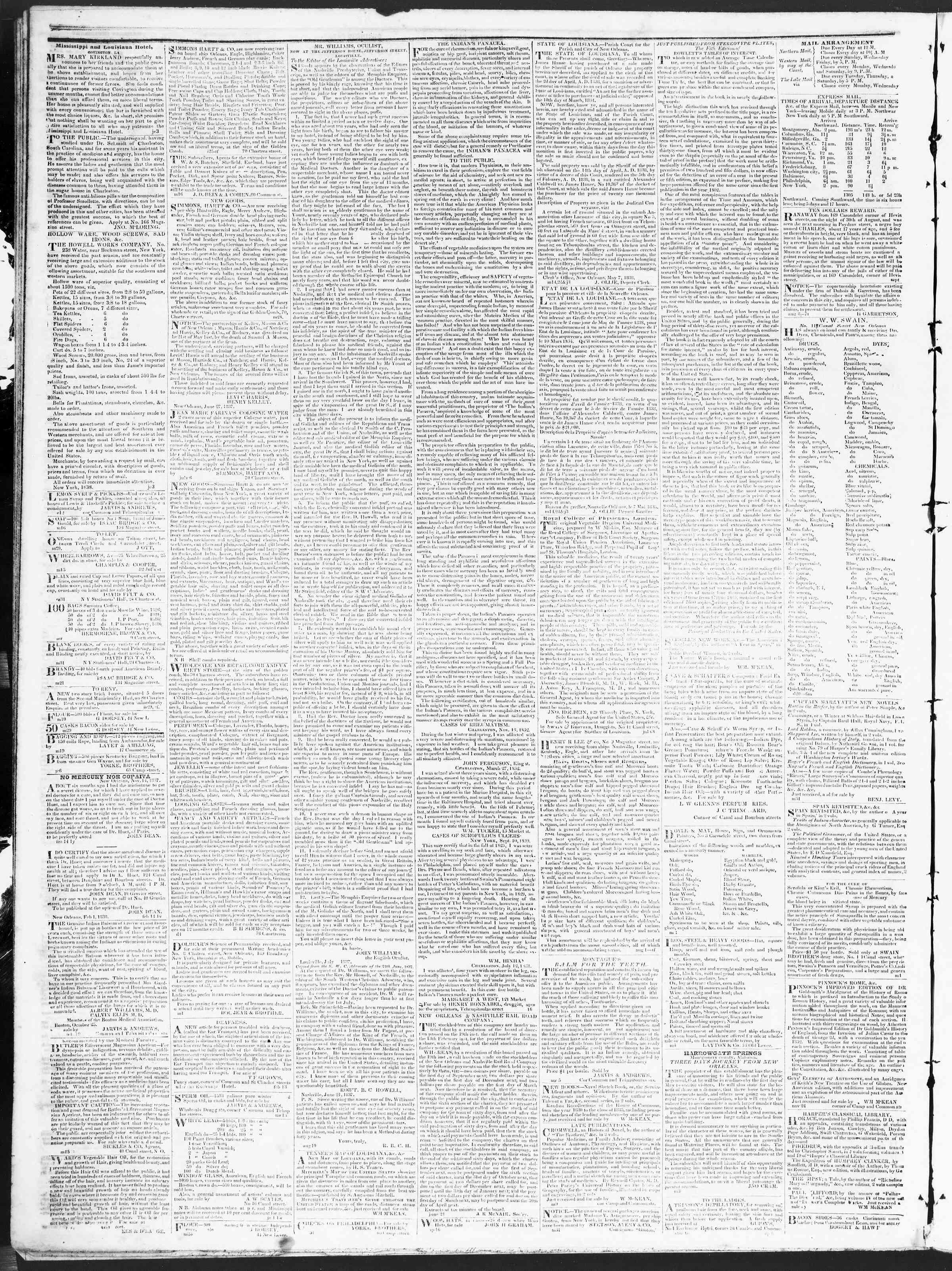 December 10, 1838 Tarihli True American Gazetesi Sayfa 4