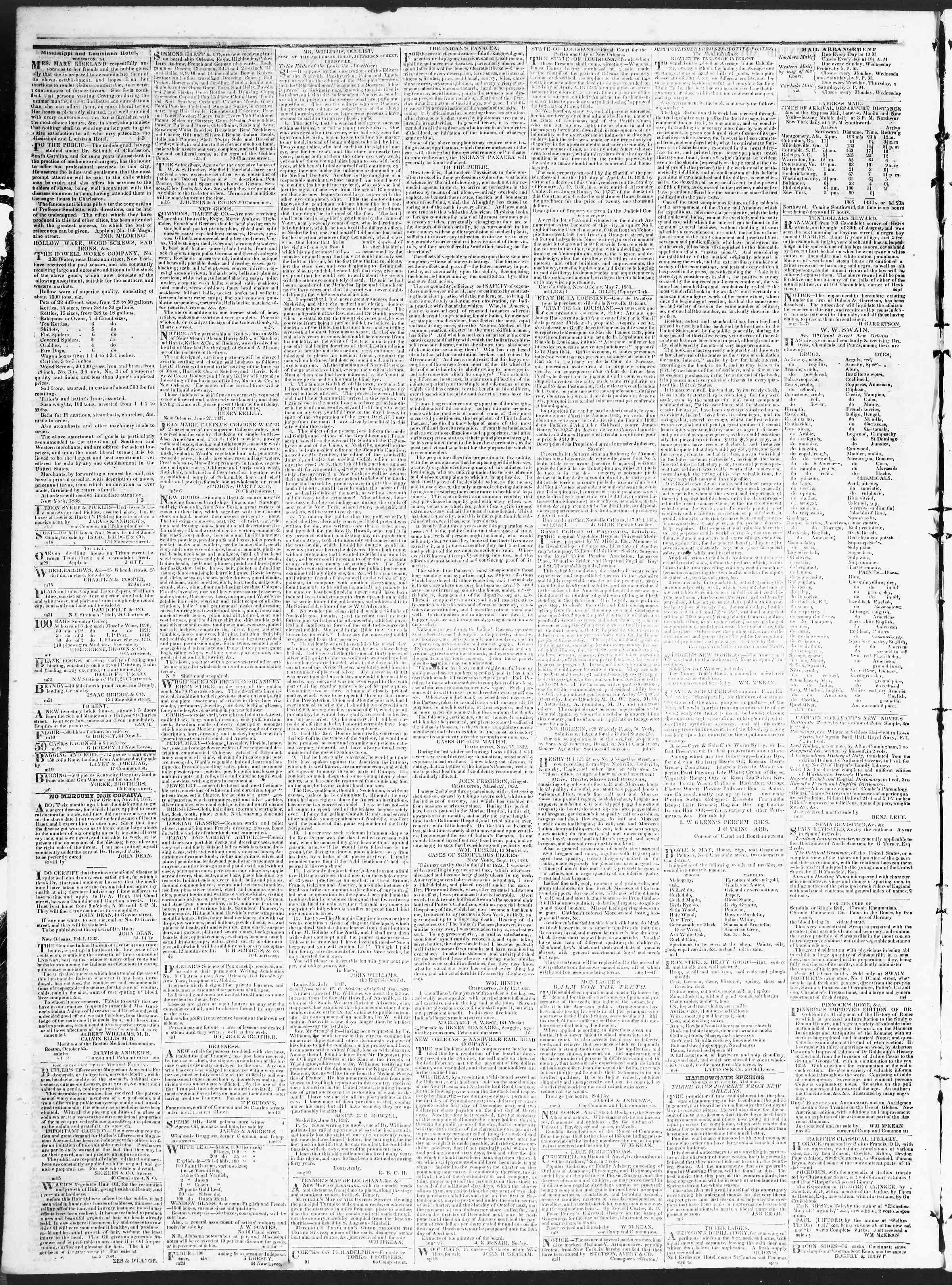 December 11, 1838 Tarihli True American Gazetesi Sayfa 4