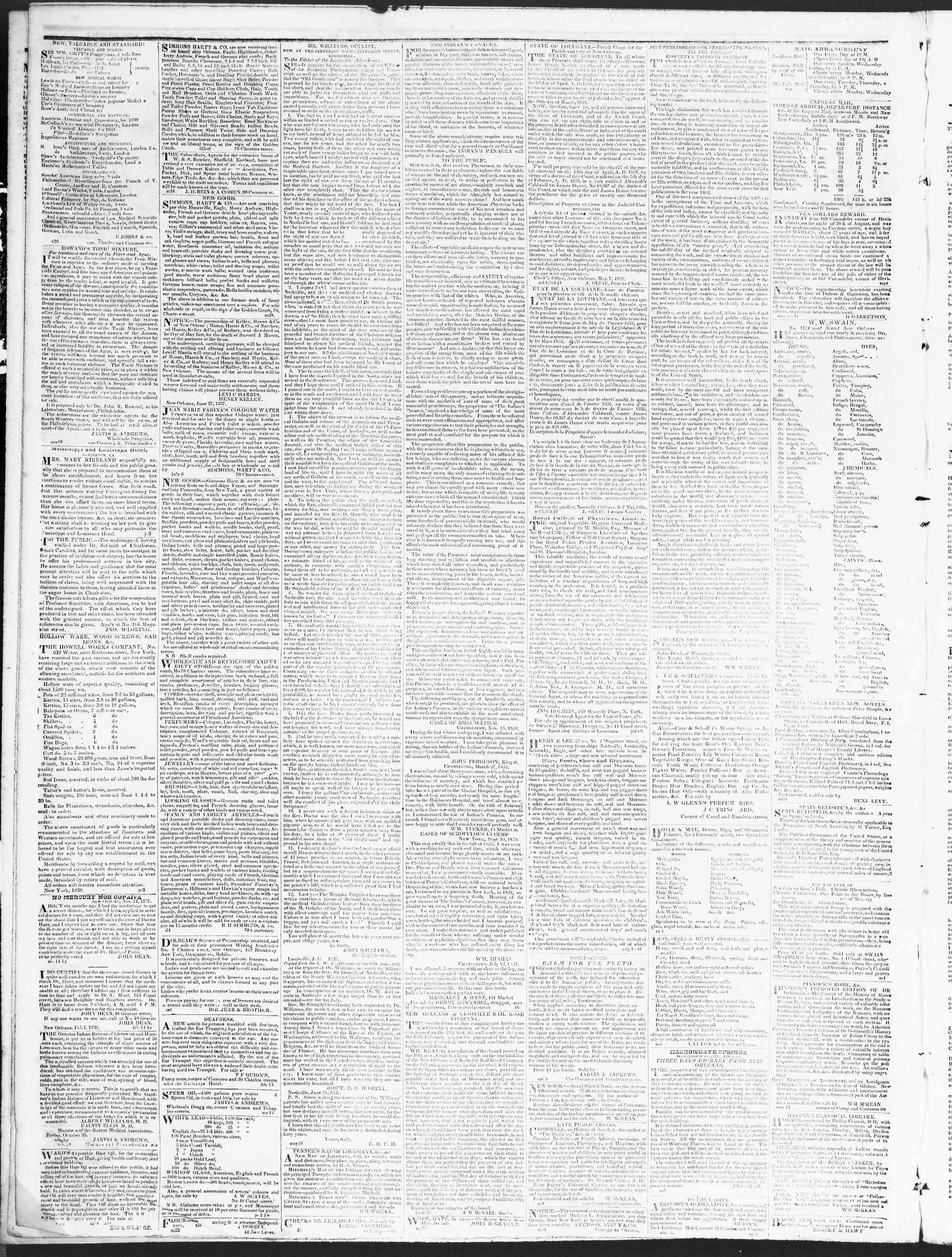 December 12, 1838 Tarihli True American Gazetesi Sayfa 4