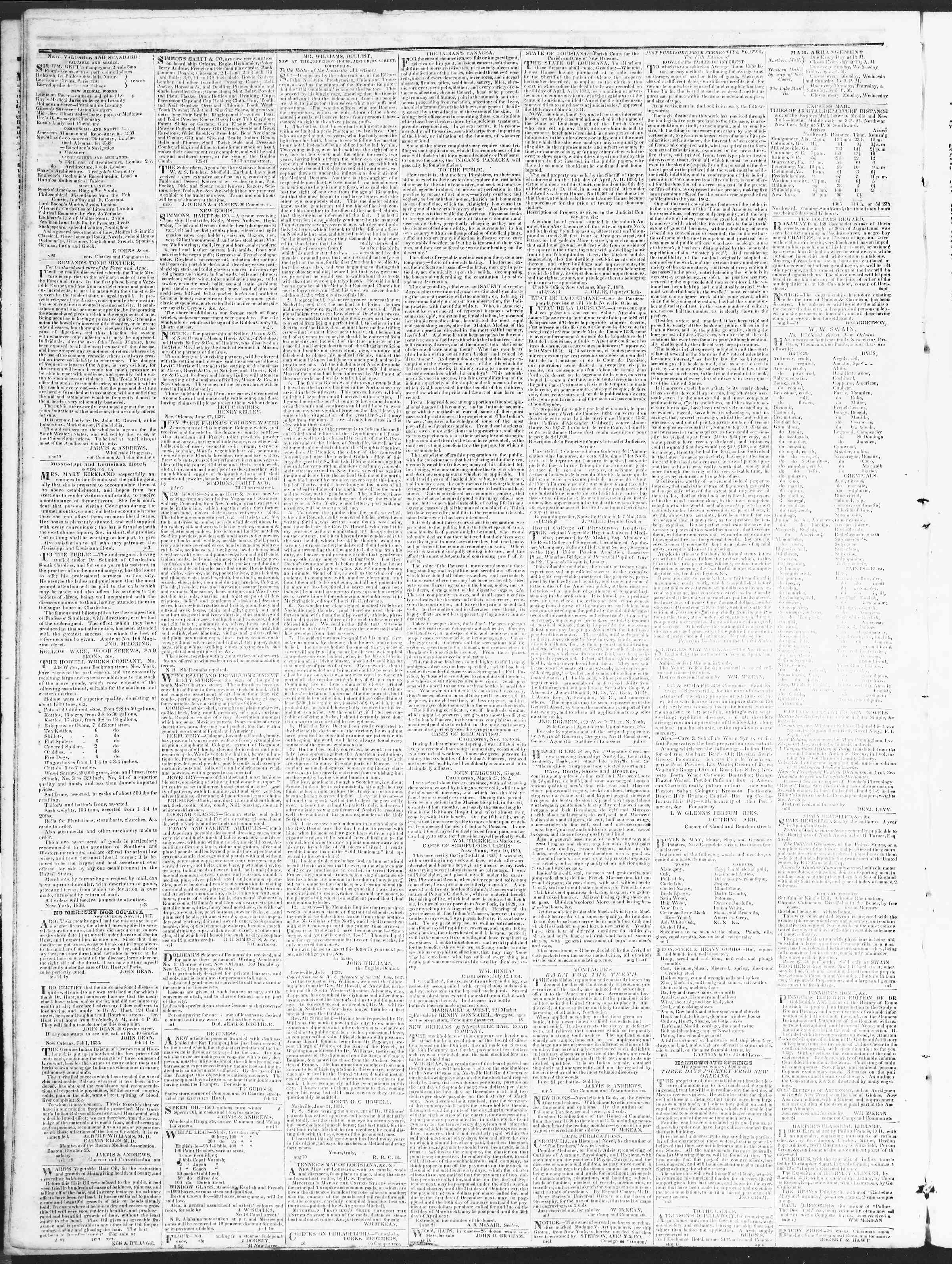 Newspaper of True American dated December 13, 1838 Page 4