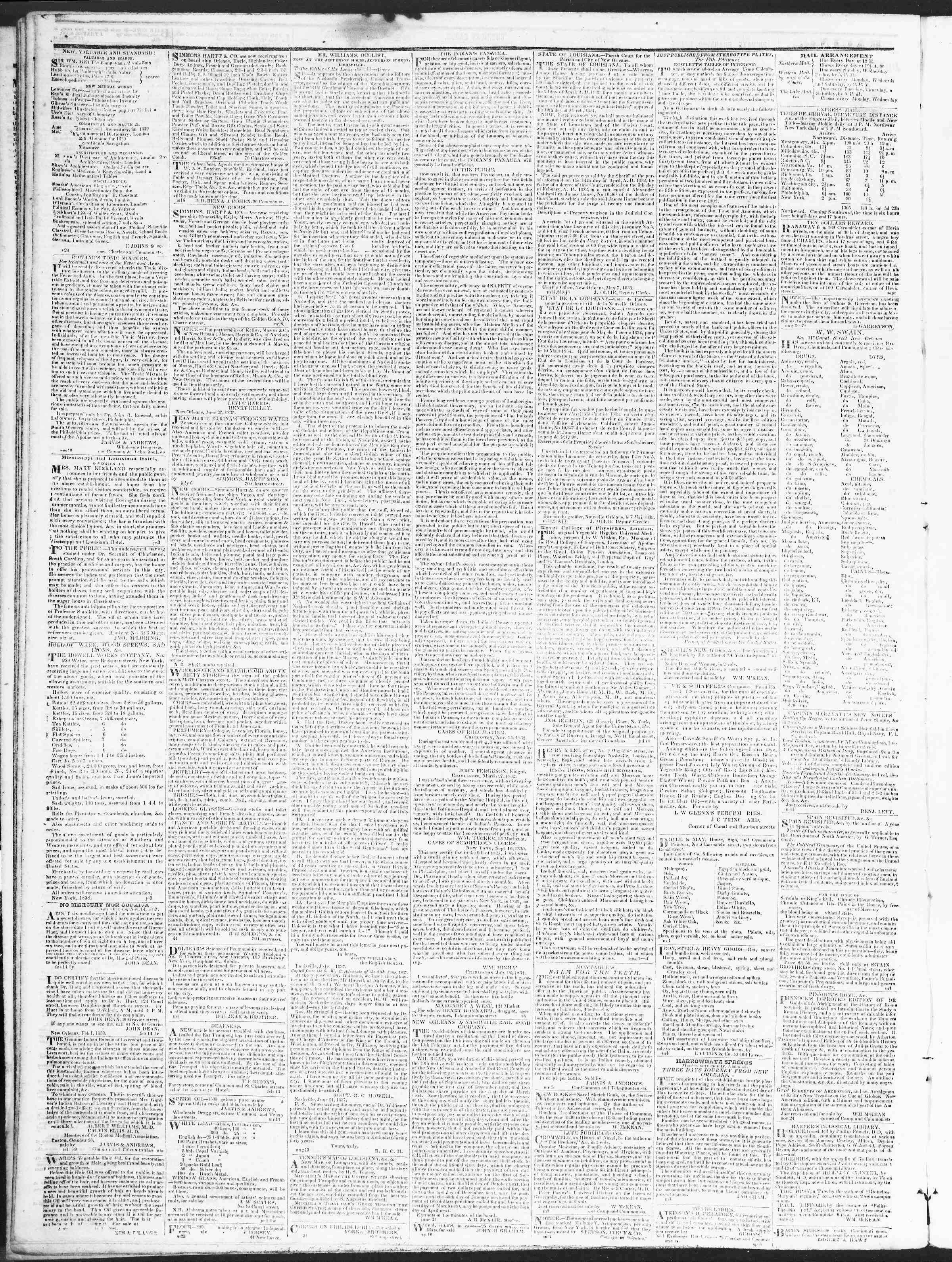 December 15, 1838 Tarihli True American Gazetesi Sayfa 4