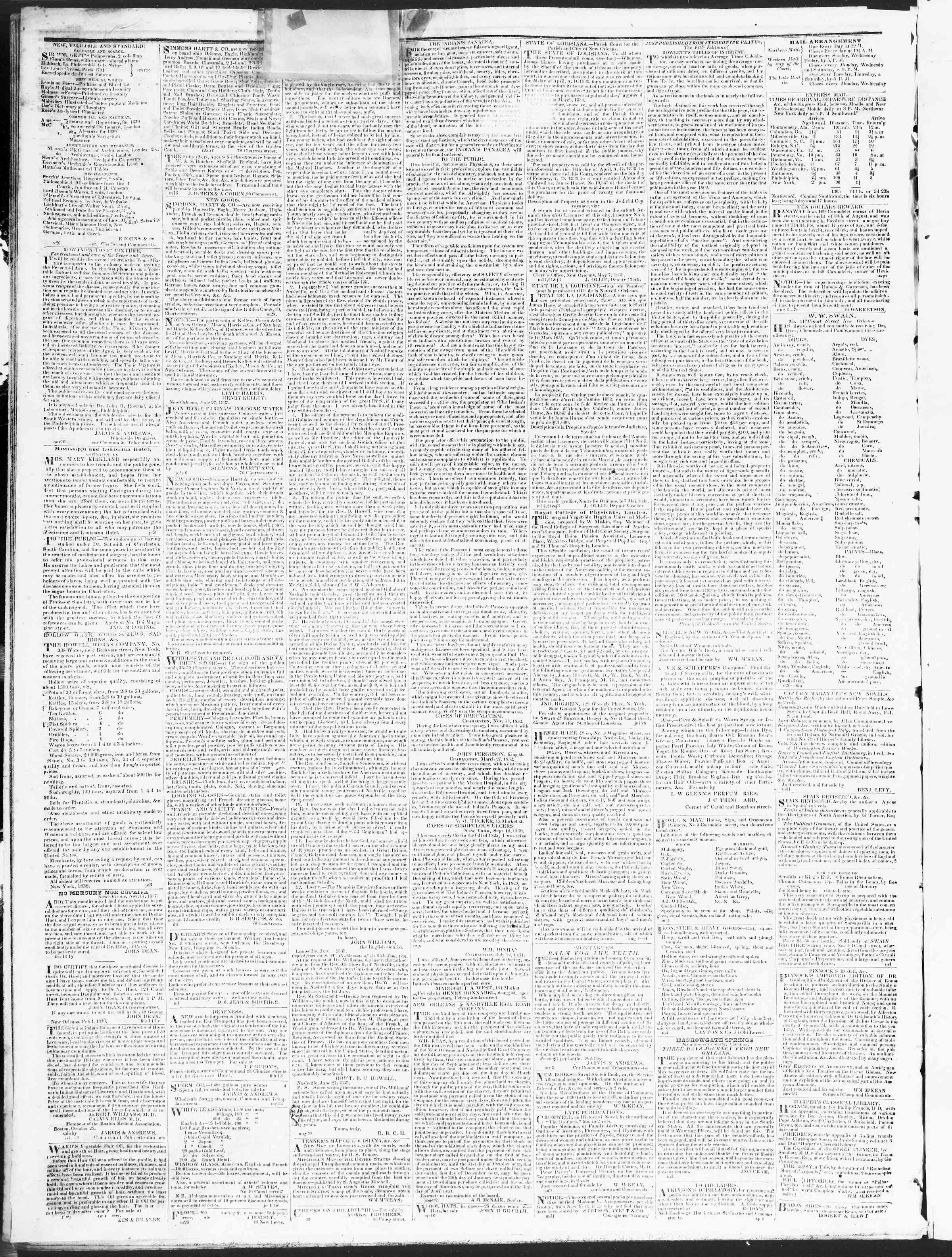 December 18, 1838 Tarihli True American Gazetesi Sayfa 4