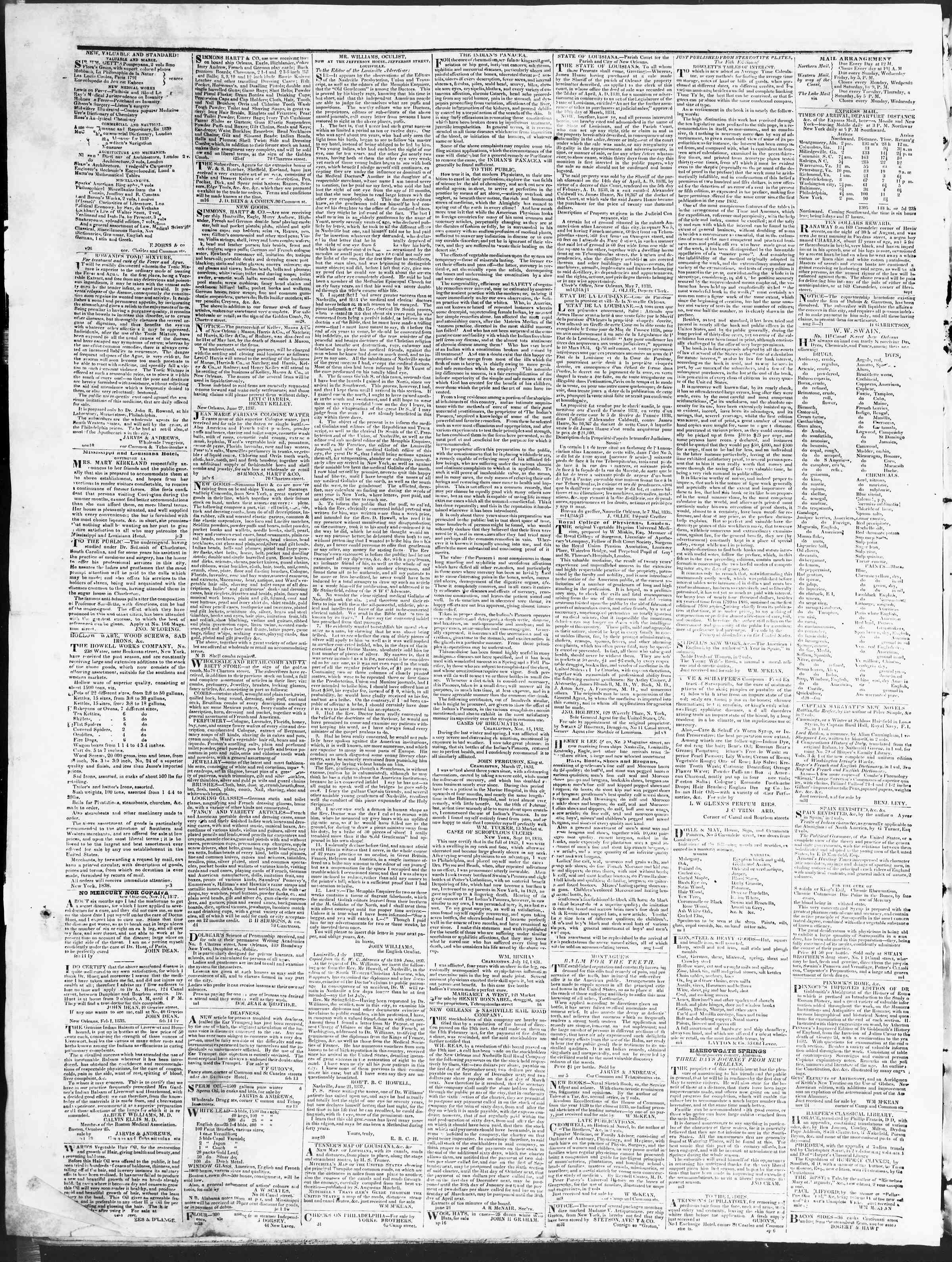 December 19, 1838 Tarihli True American Gazetesi Sayfa 4