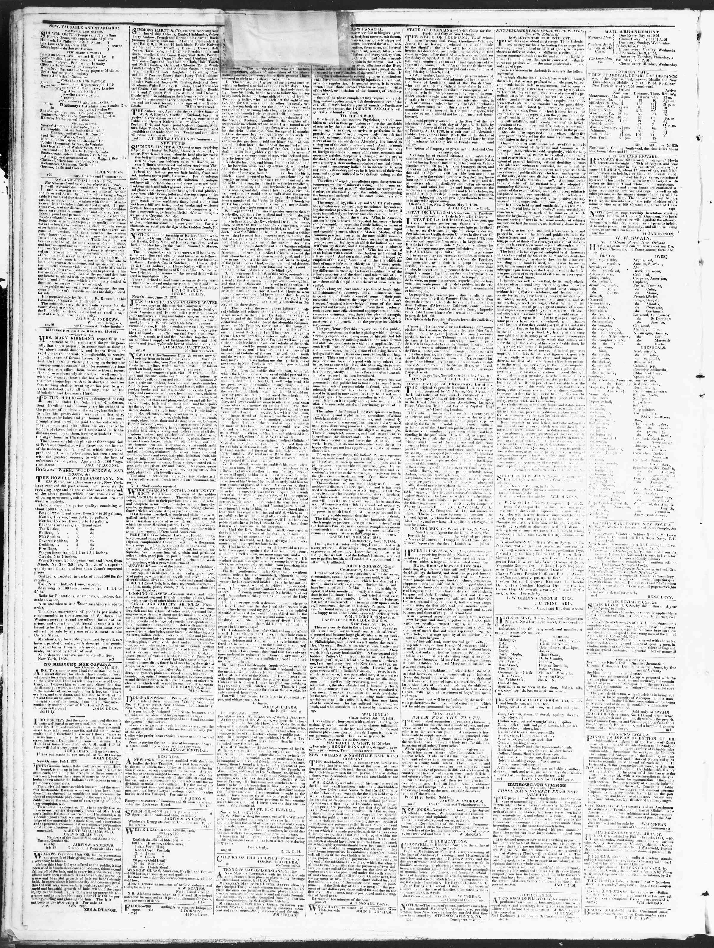 December 20, 1838 Tarihli True American Gazetesi Sayfa 4