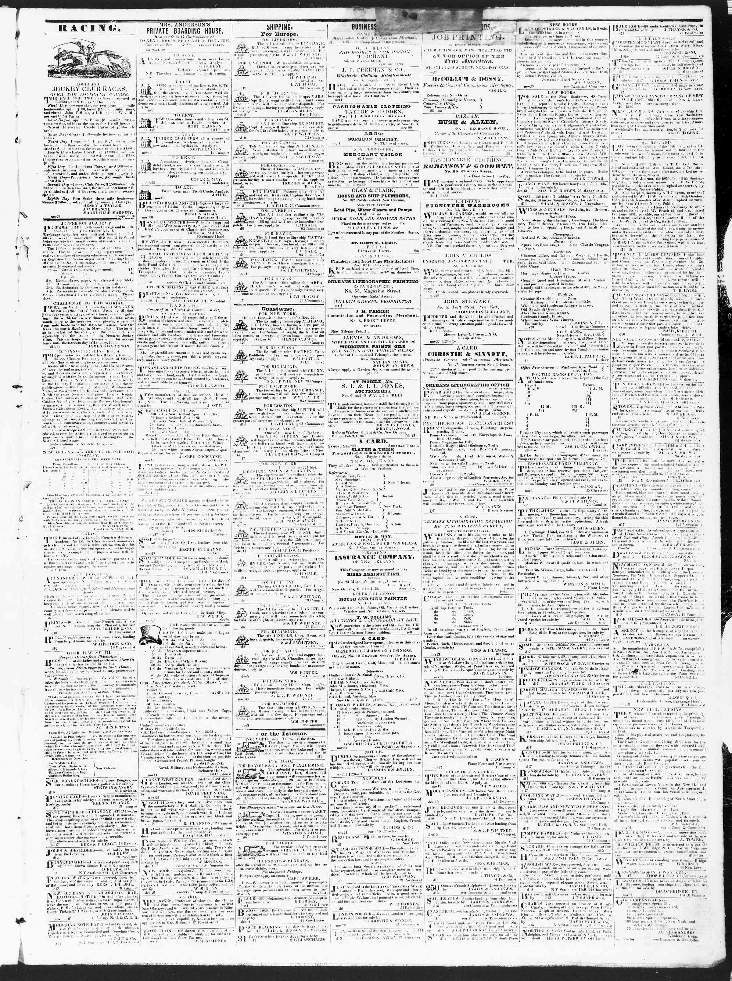 December 21, 1838 Tarihli True American Gazetesi Sayfa 3