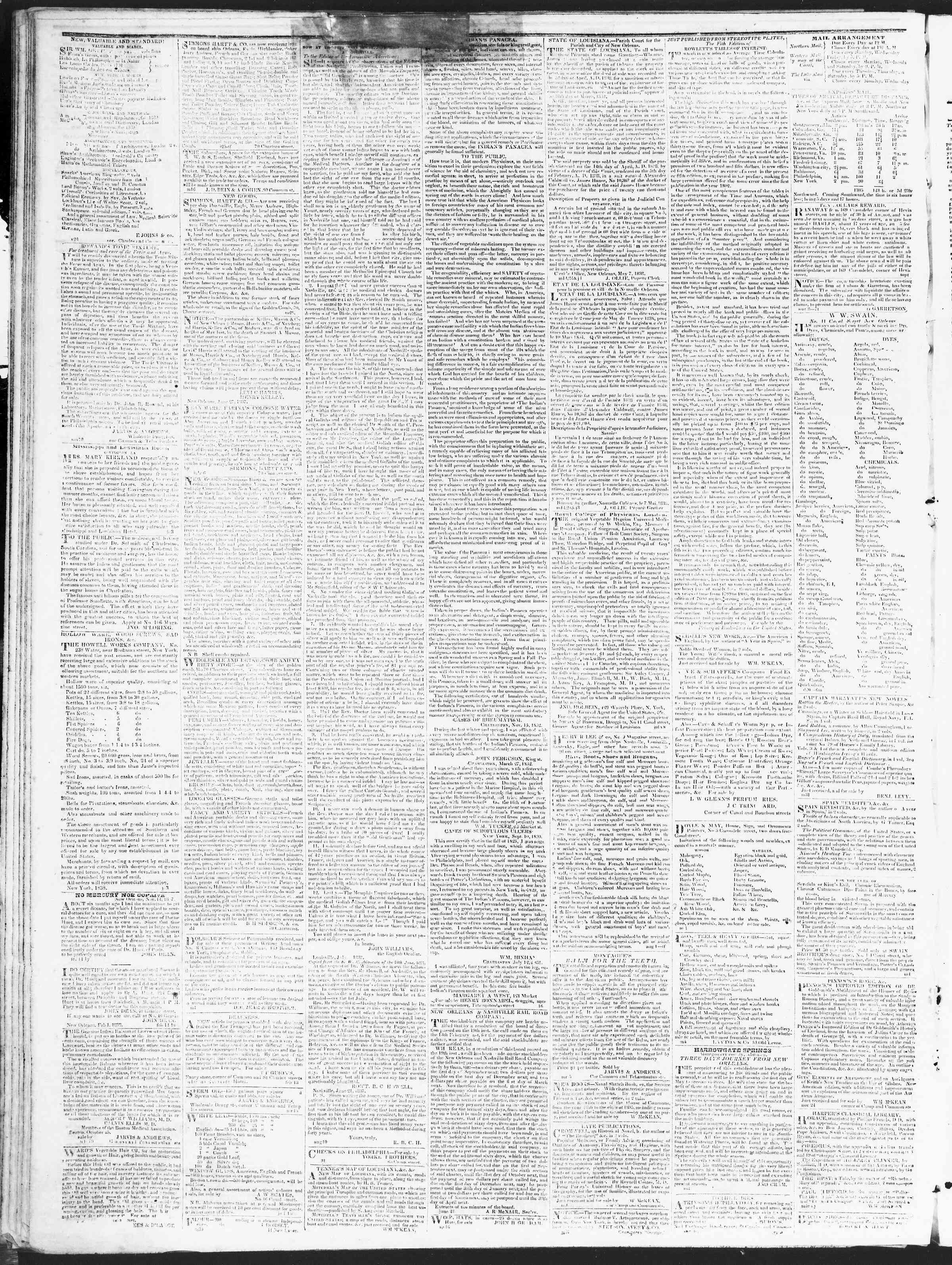 December 22, 1838 Tarihli True American Gazetesi Sayfa 4