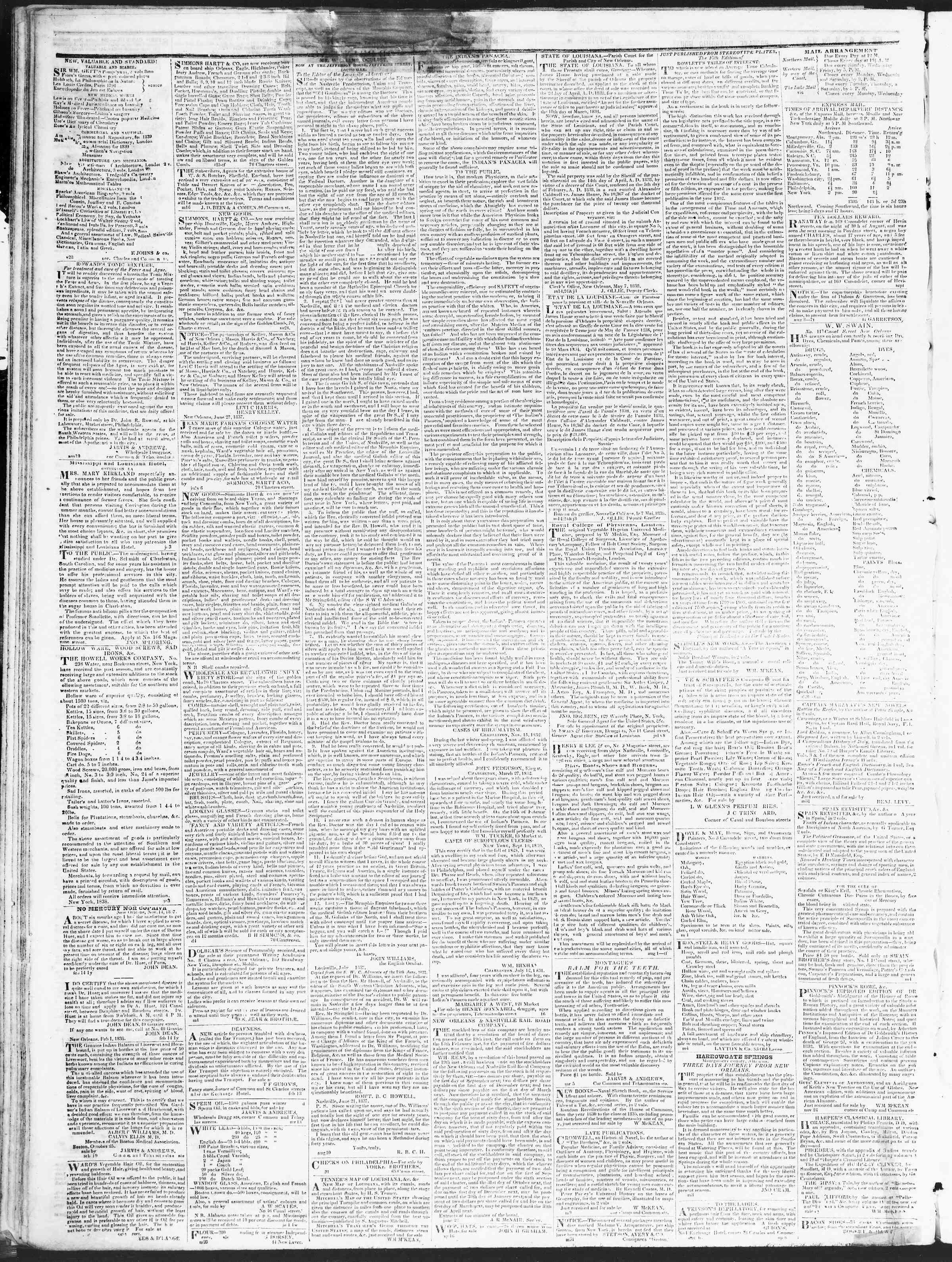 December 24, 1838 Tarihli True American Gazetesi Sayfa 4