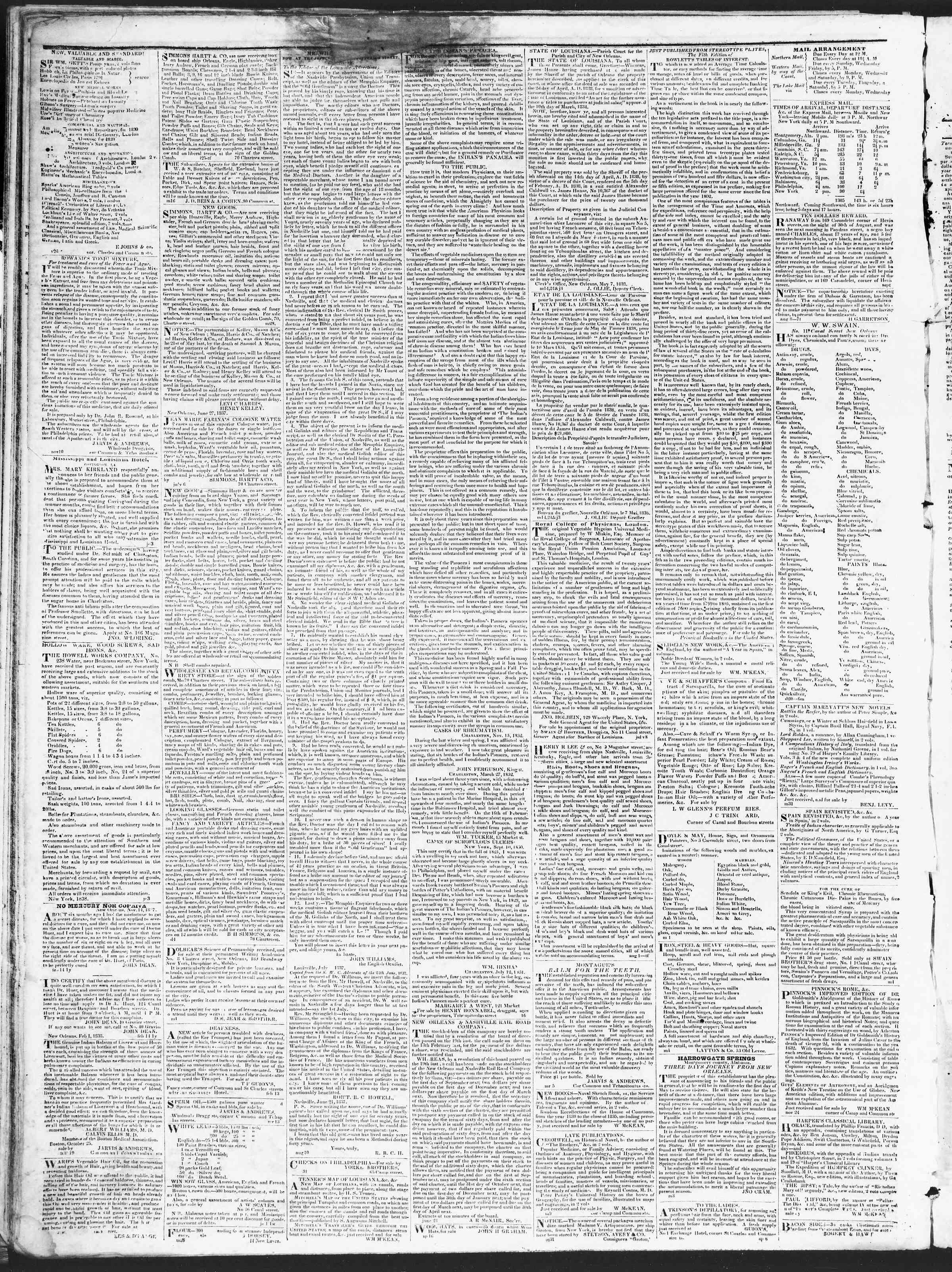 December 27, 1838 Tarihli True American Gazetesi Sayfa 4