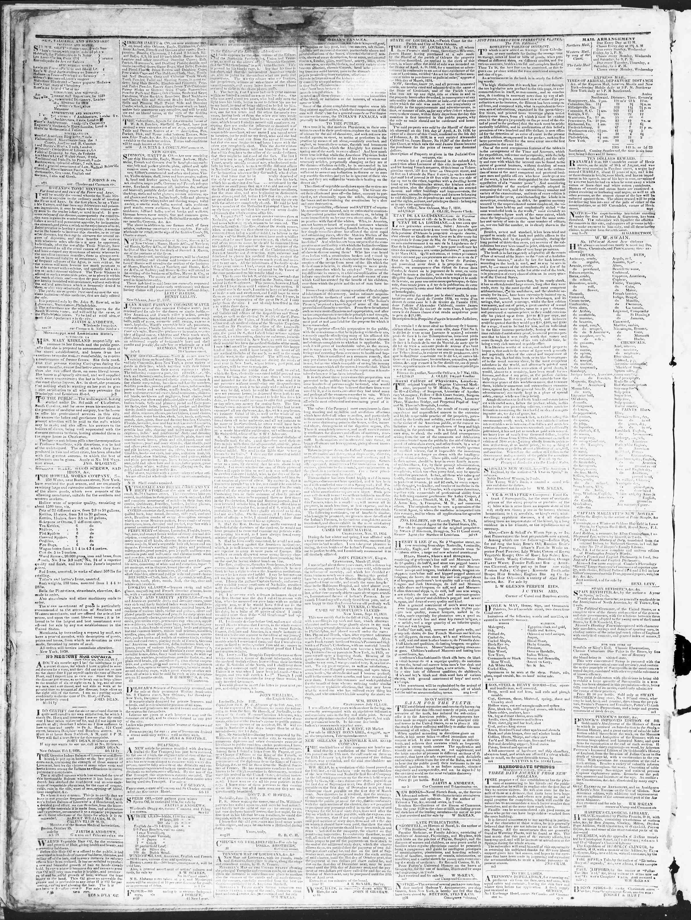 December 29, 1838 Tarihli True American Gazetesi Sayfa 4