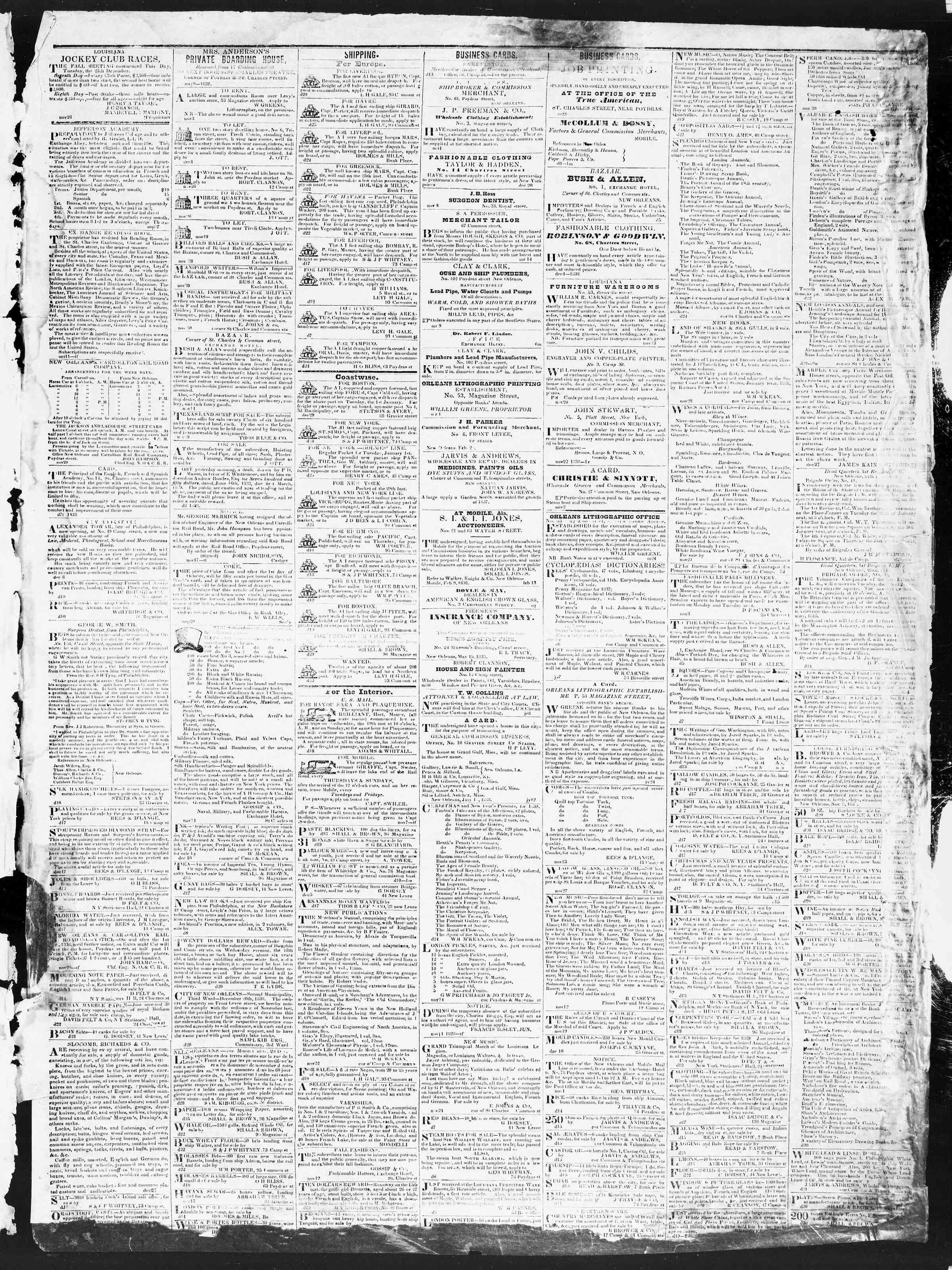 December 31, 1838 Tarihli True American Gazetesi Sayfa 3