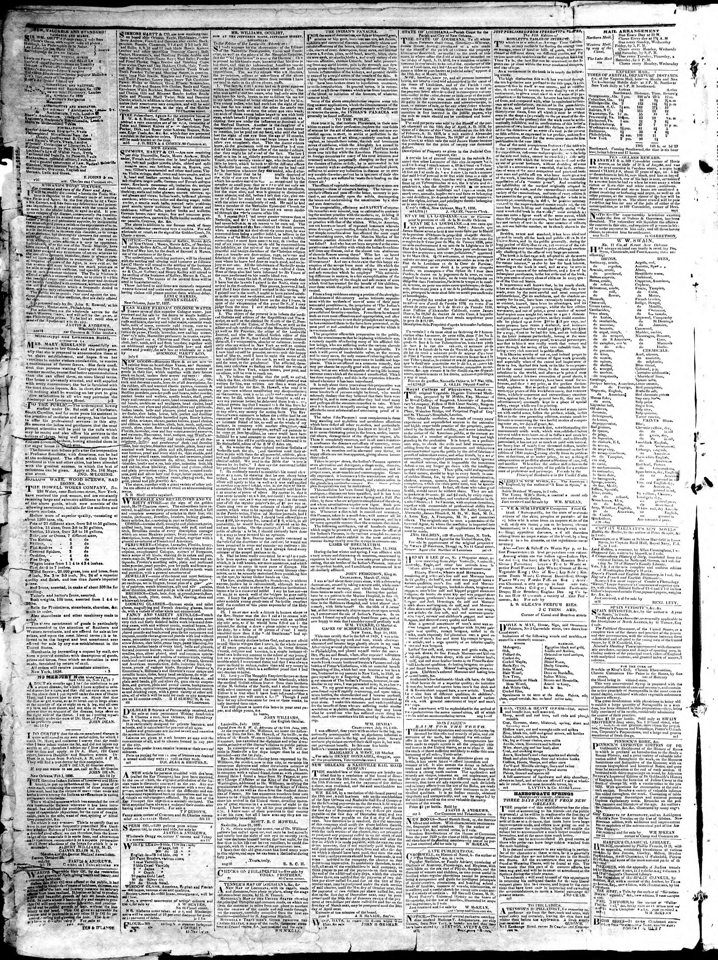 Newspaper of True American dated January 3, 1839 Page 4
