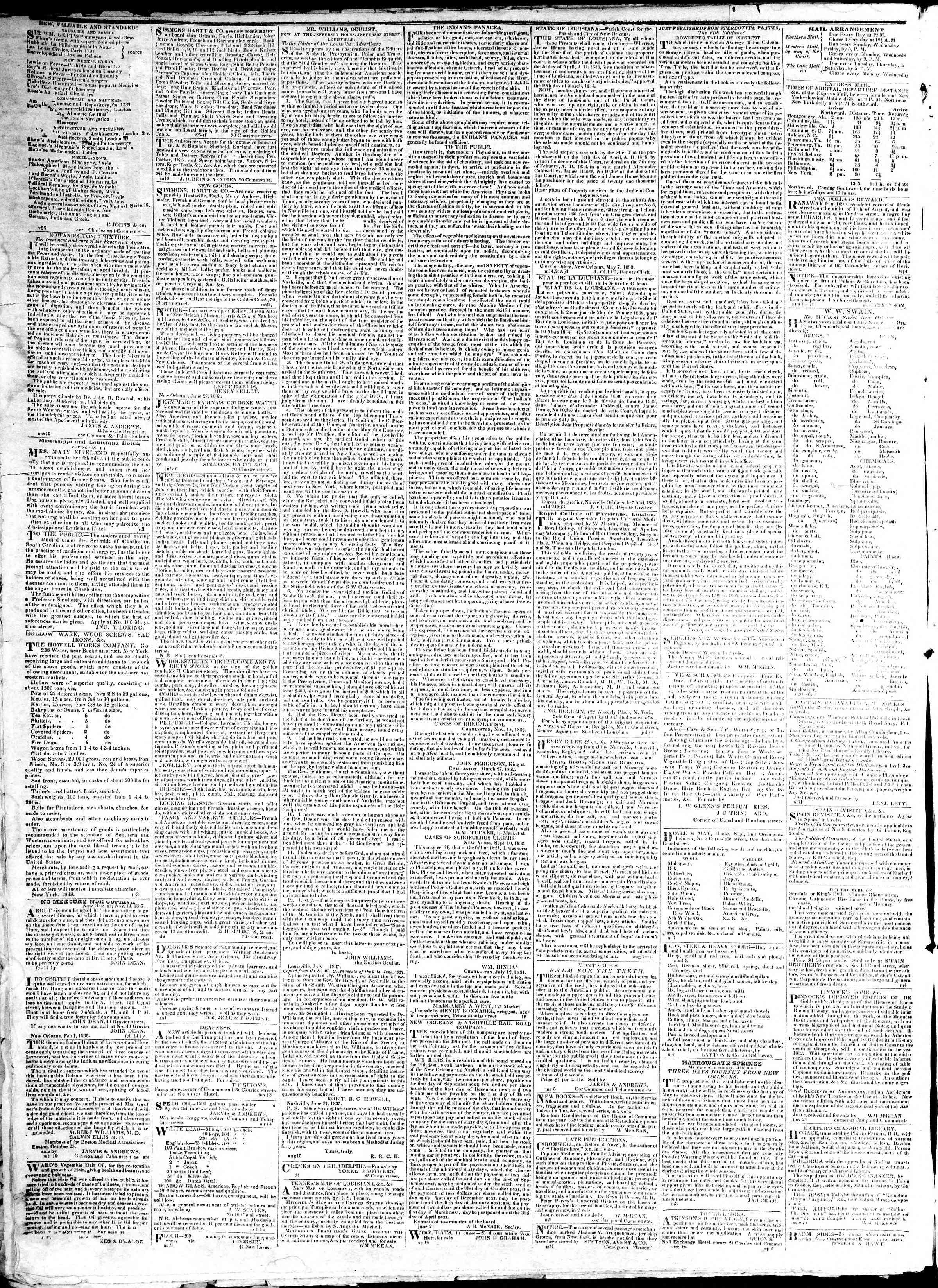 January 7, 1839 Tarihli True American Gazetesi Sayfa 4