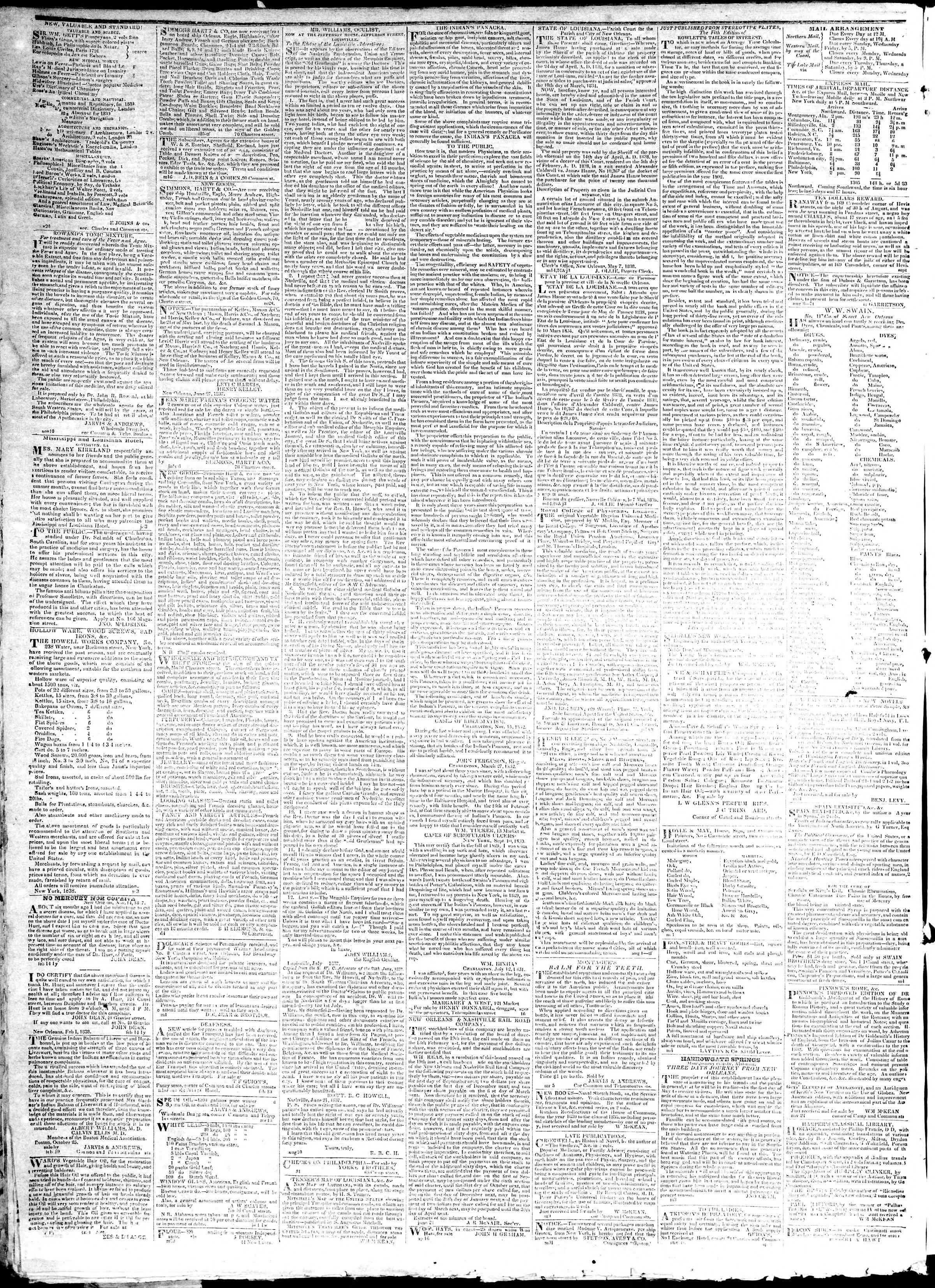 January 11, 1839 Tarihli True American Gazetesi Sayfa 4