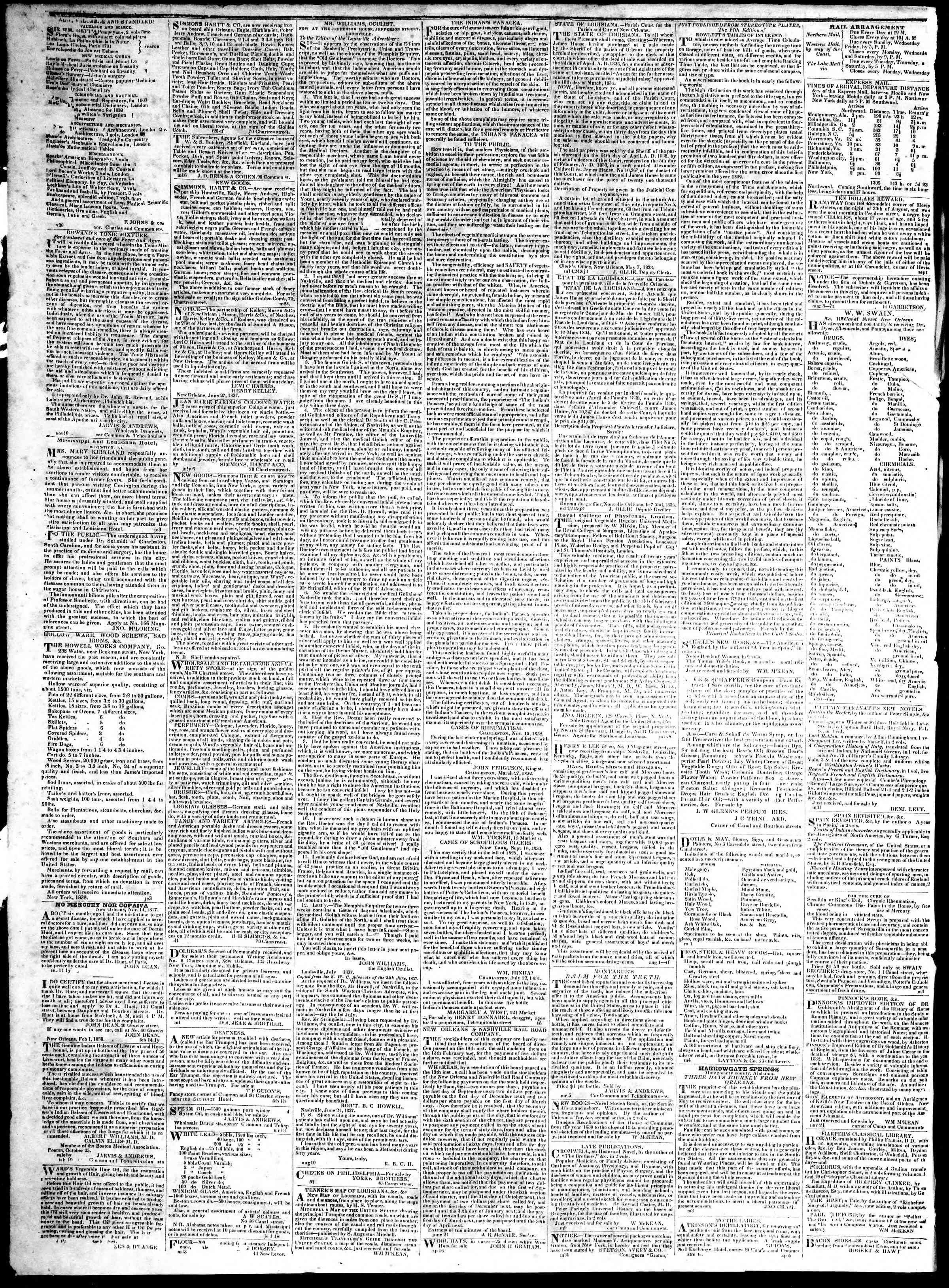 Newspaper of True American dated January 12, 1839 Page 4