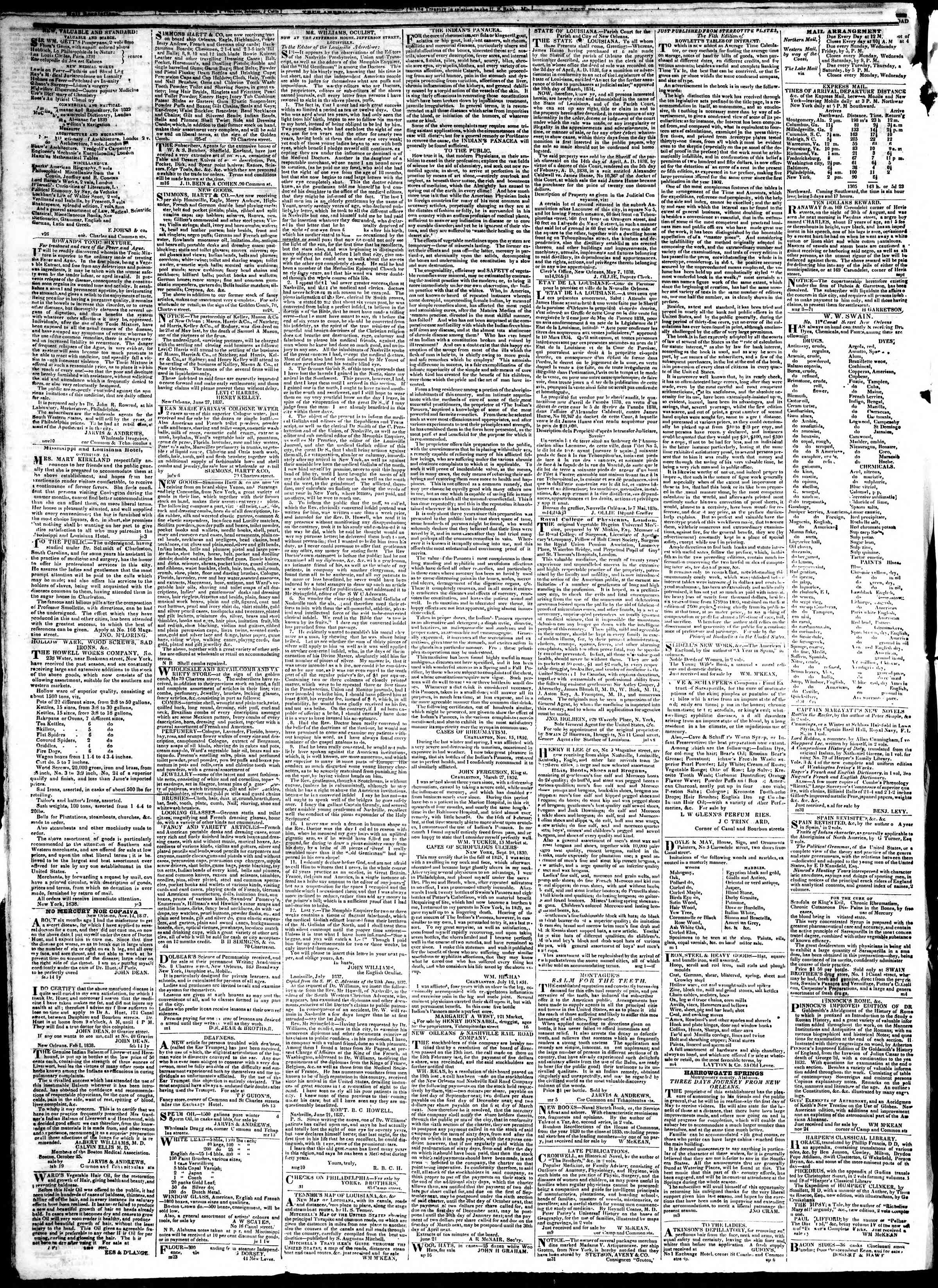 Newspaper of True American dated January 14, 1839 Page 4