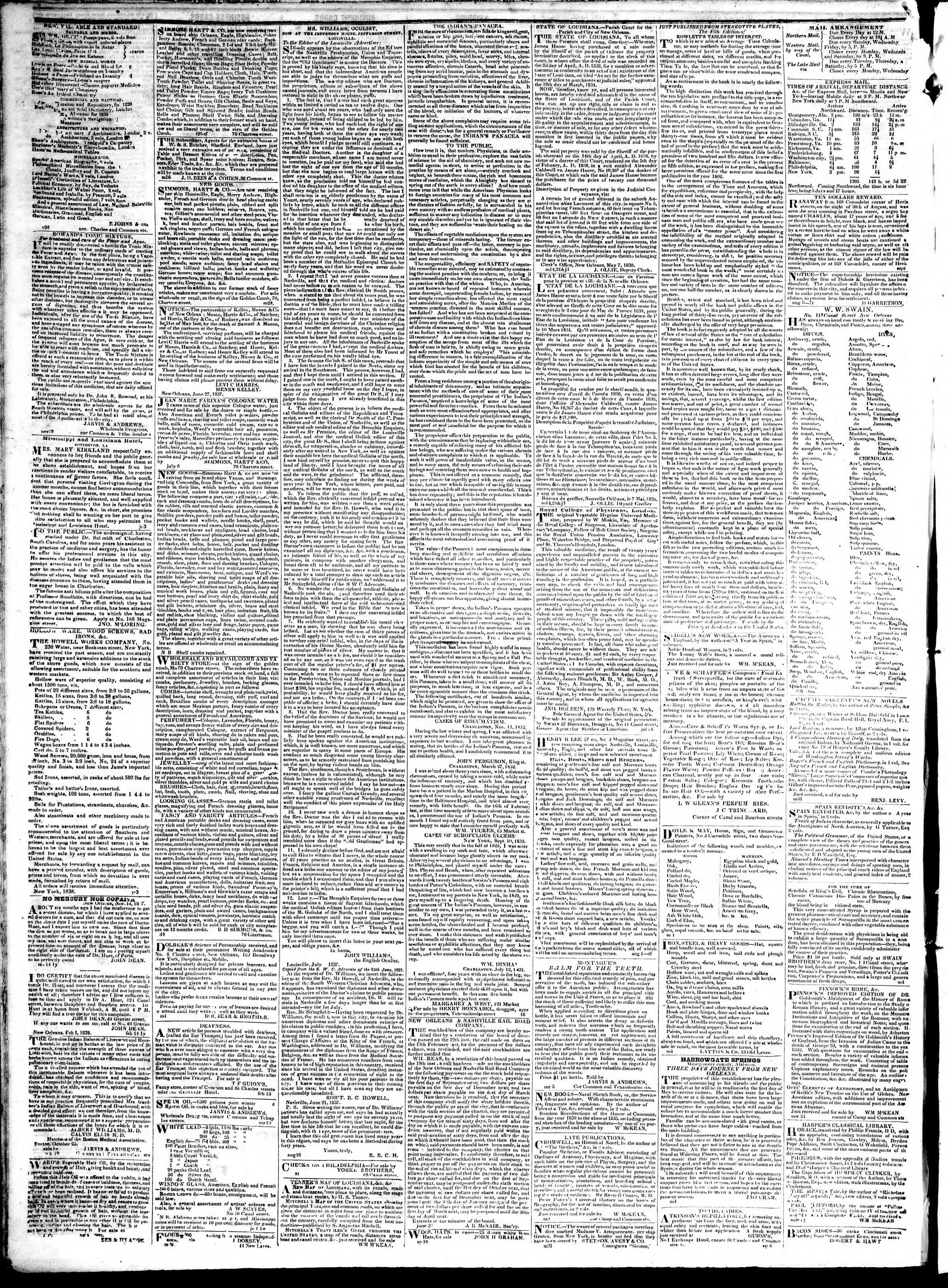 Newspaper of True American dated January 15, 1839 Page 4
