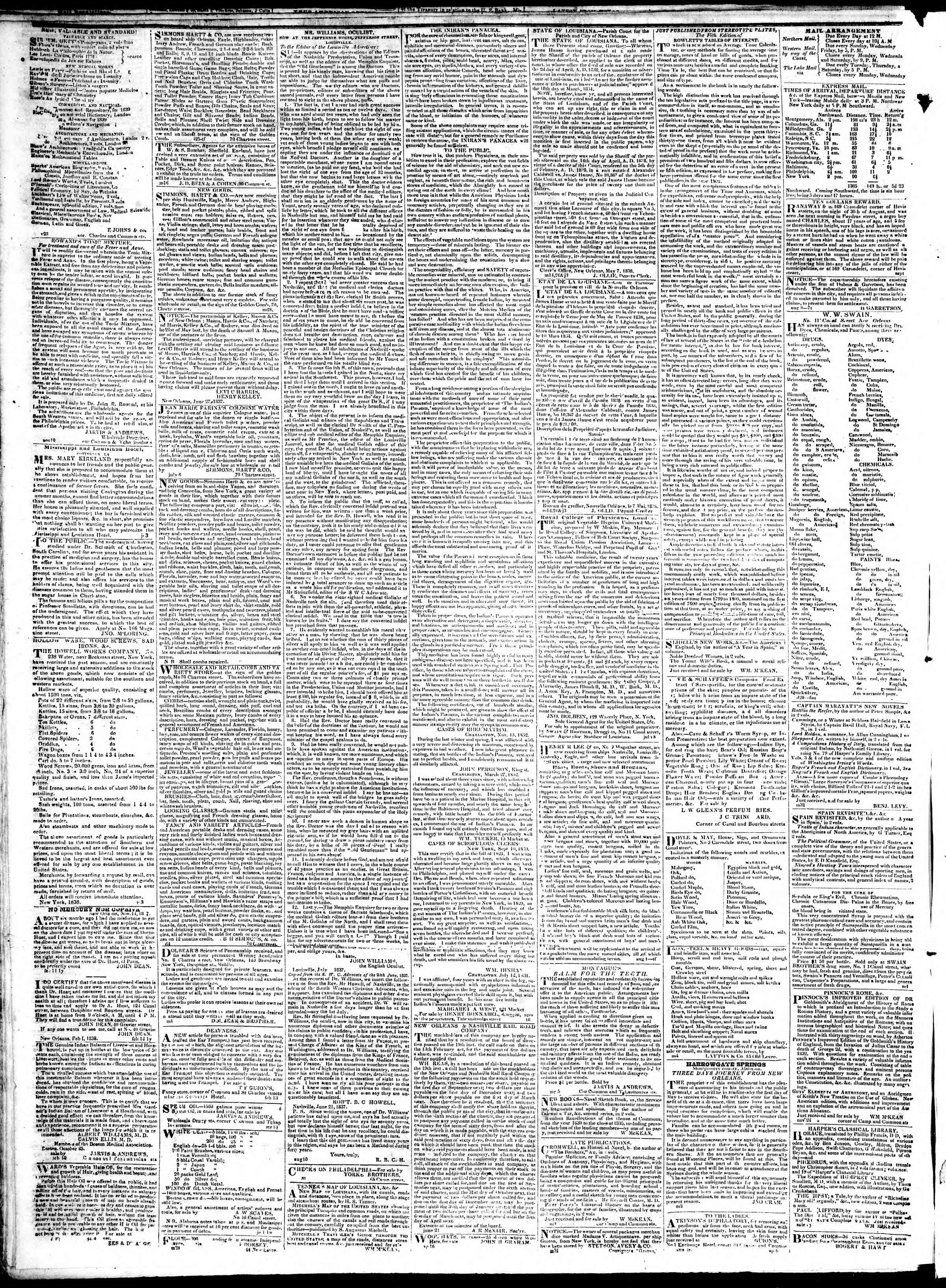 Newspaper of True American dated January 16, 1839 Page 4