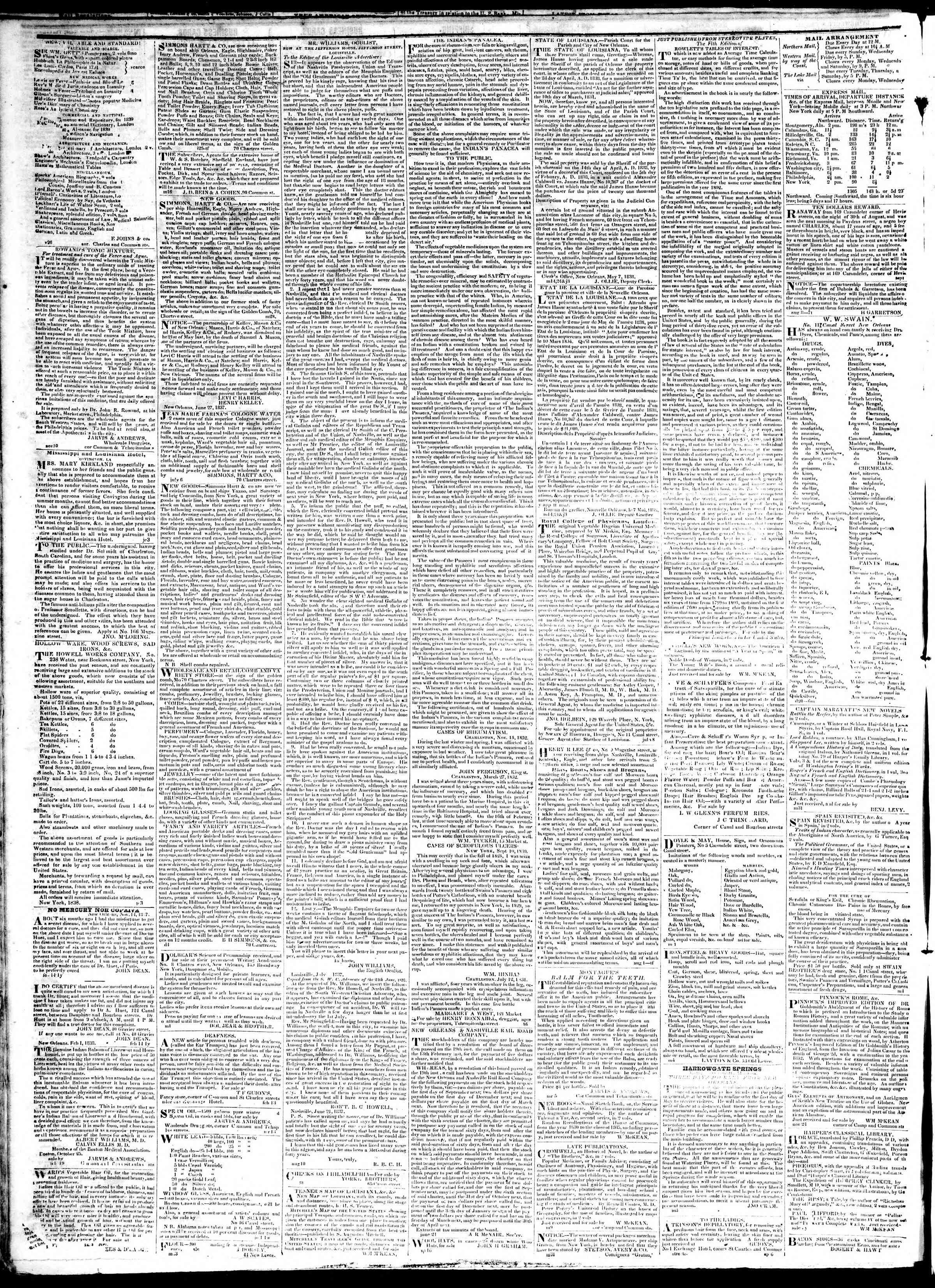 January 17, 1839 Tarihli True American Gazetesi Sayfa 4