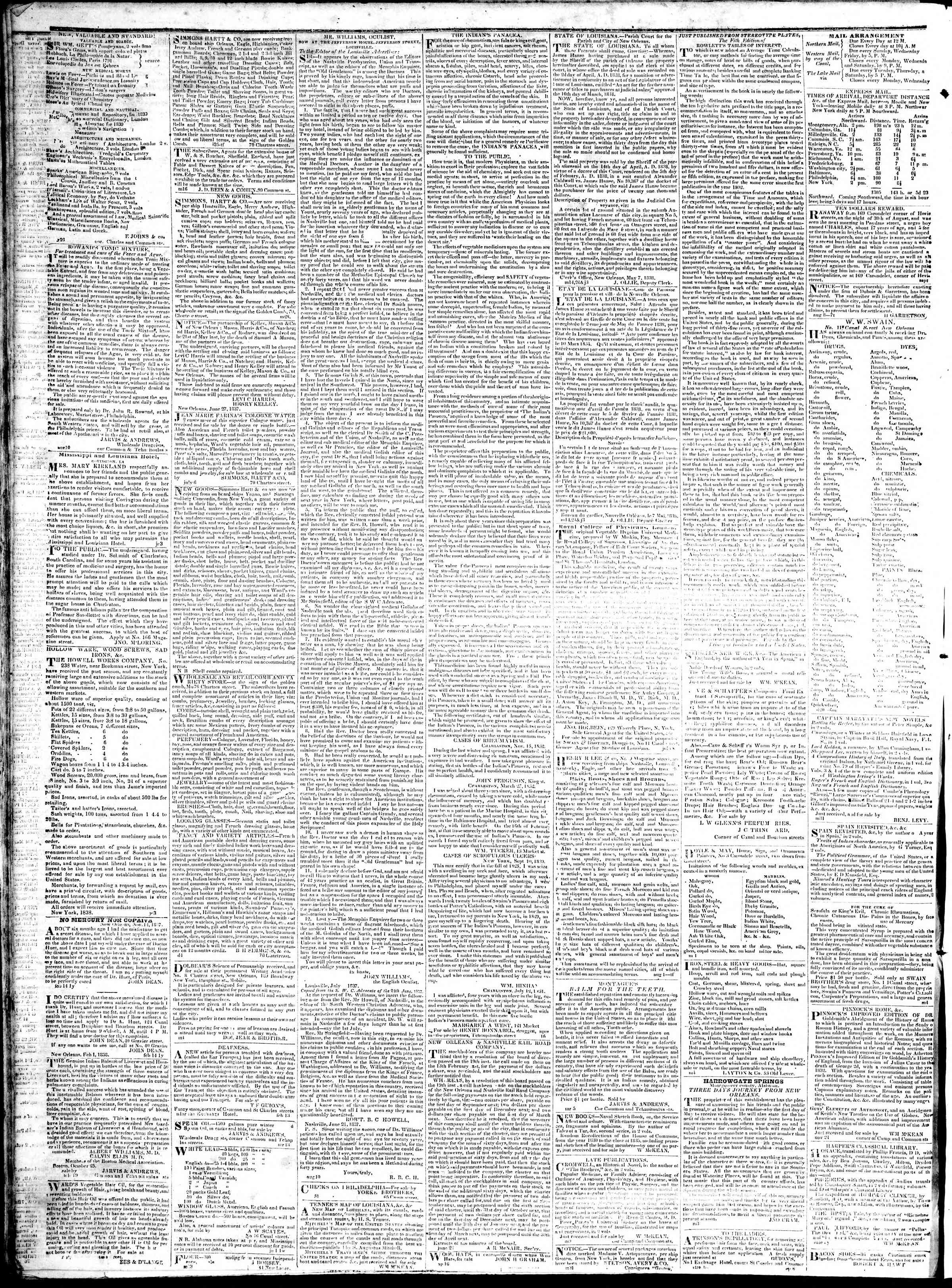 Newspaper of True American dated January 18, 1839 Page 4