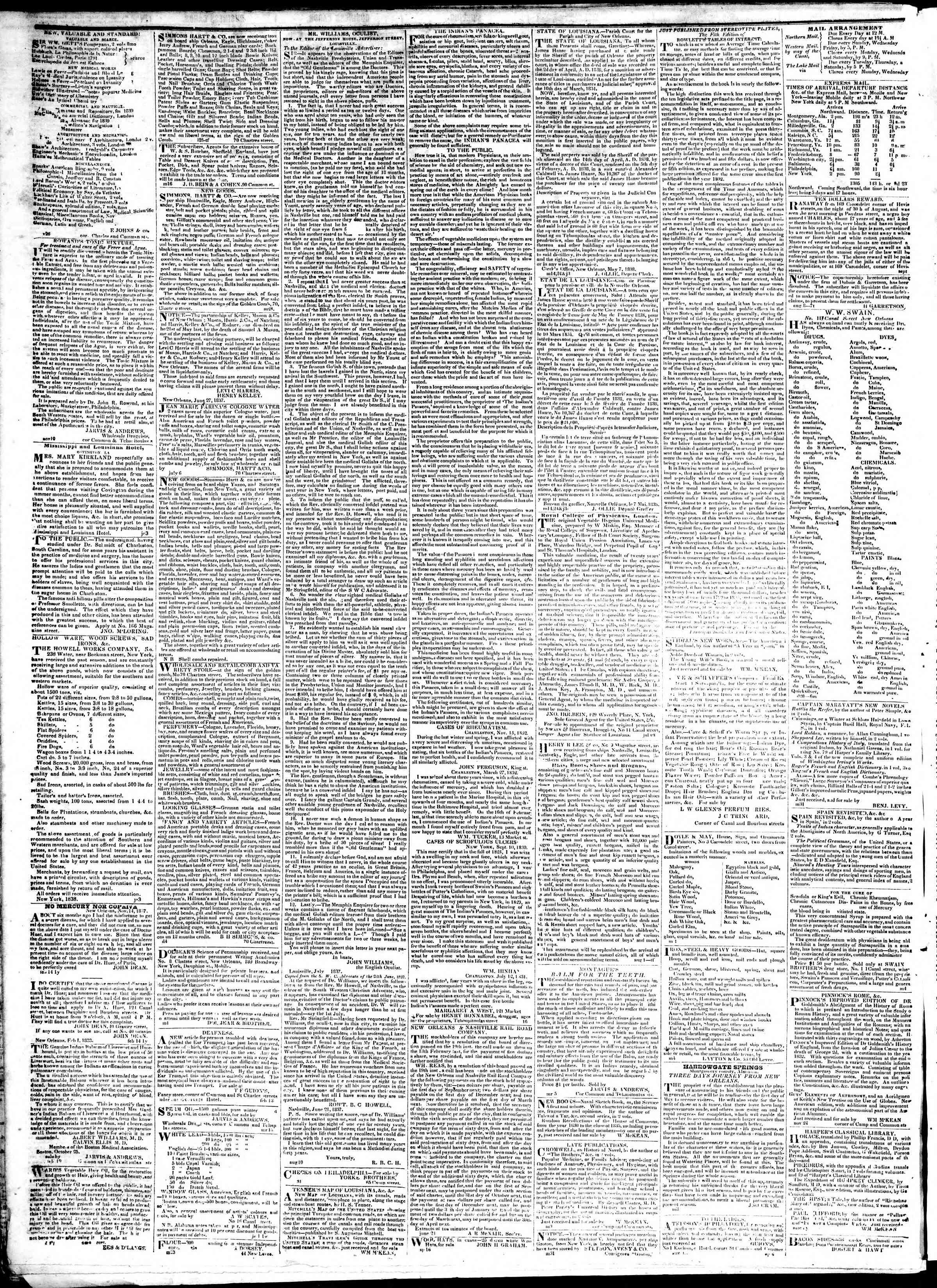 January 21, 1839 Tarihli True American Gazetesi Sayfa 4