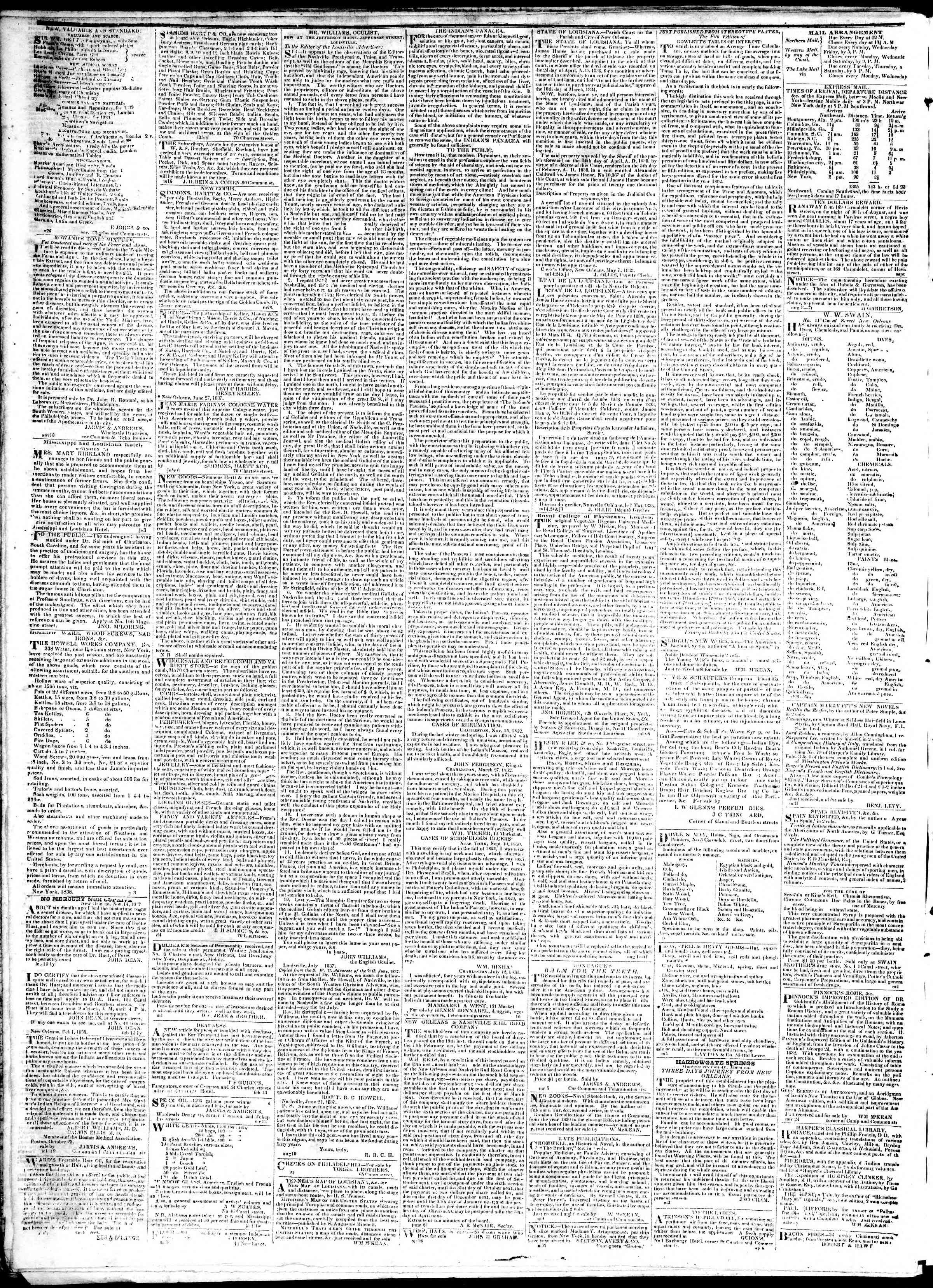 January 22, 1839 Tarihli True American Gazetesi Sayfa 4