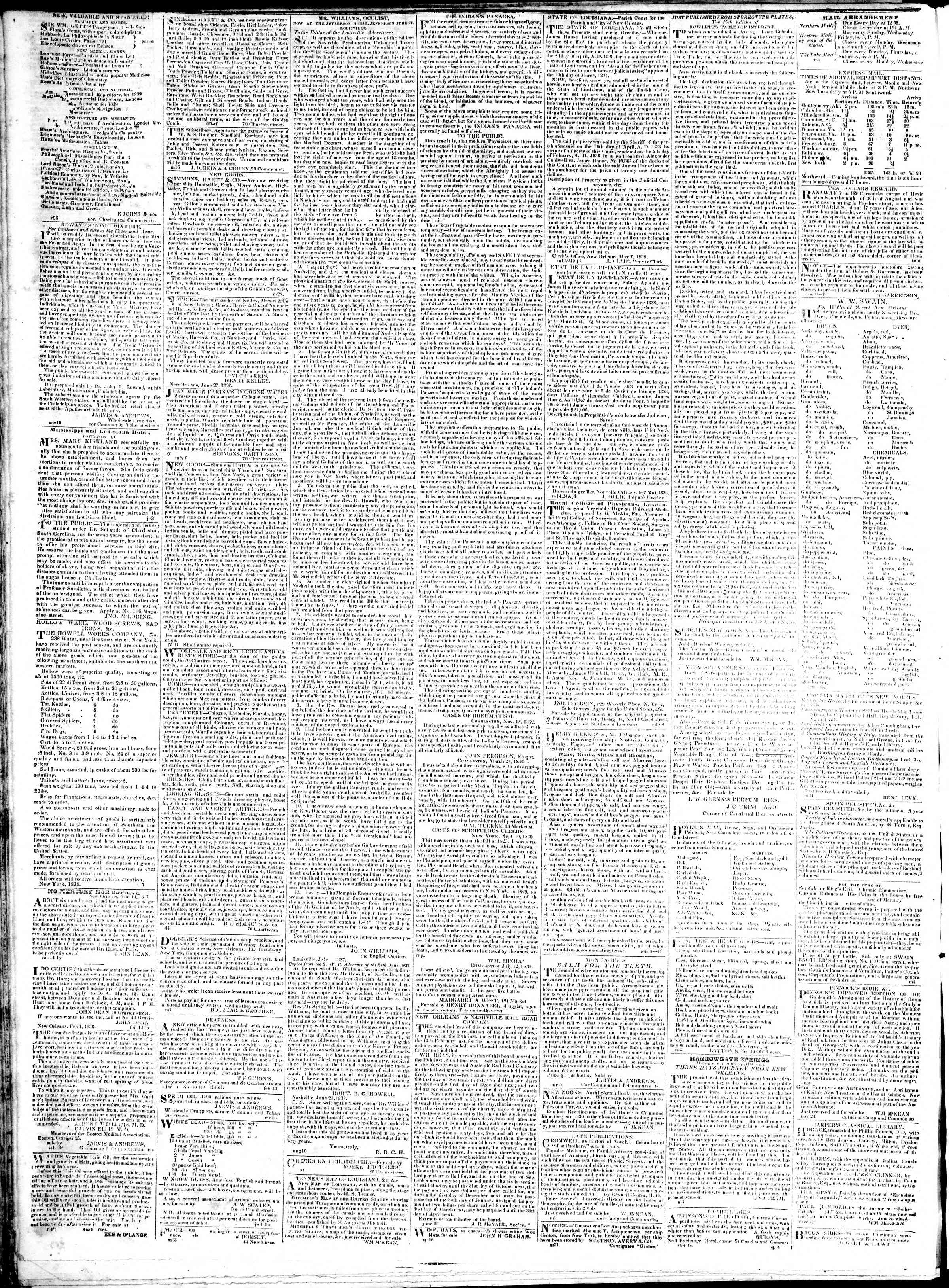 Newspaper of True American dated January 23, 1839 Page 4