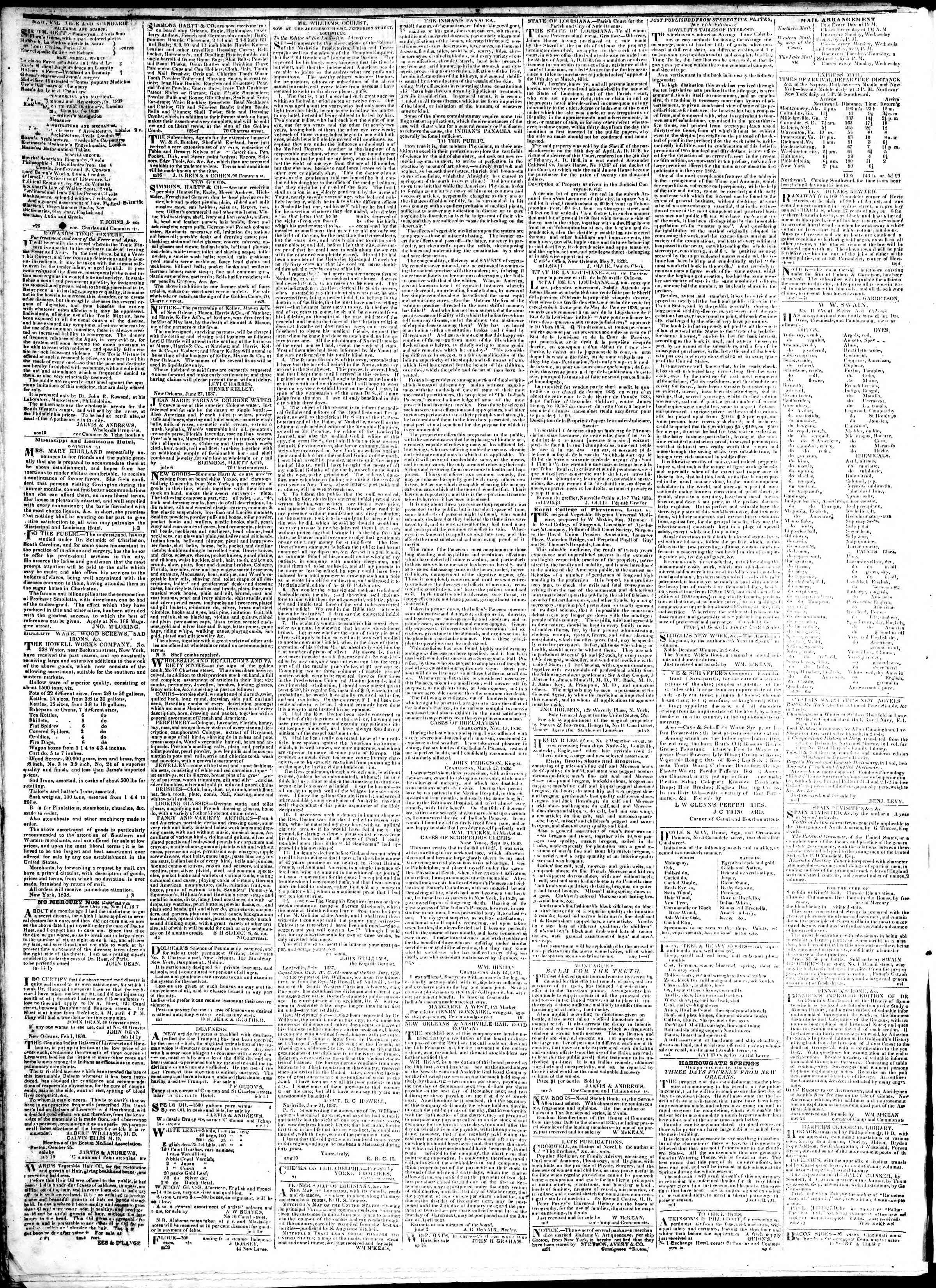 January 24, 1839 Tarihli True American Gazetesi Sayfa 4