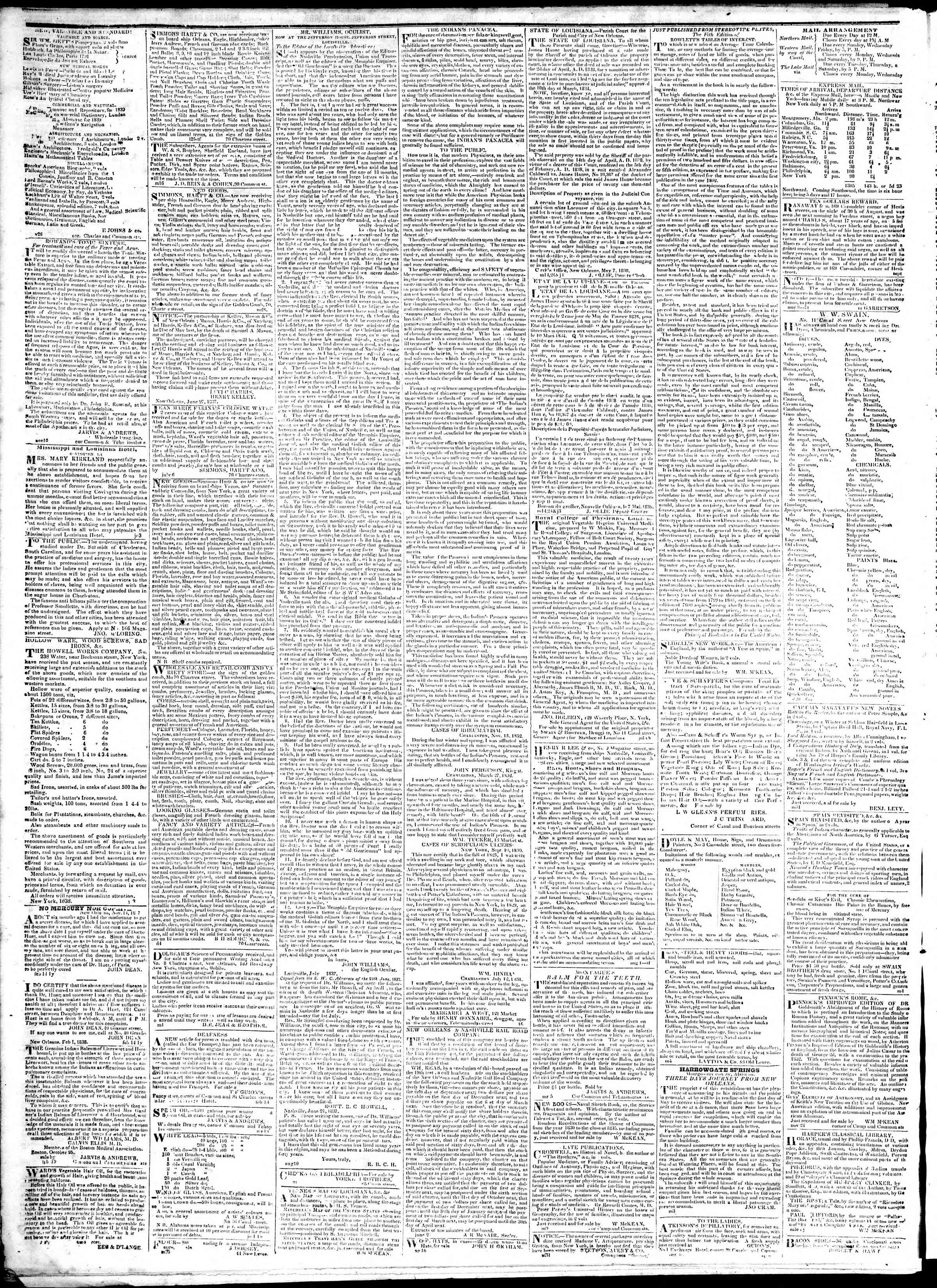Newspaper of True American dated January 25, 1839 Page 4