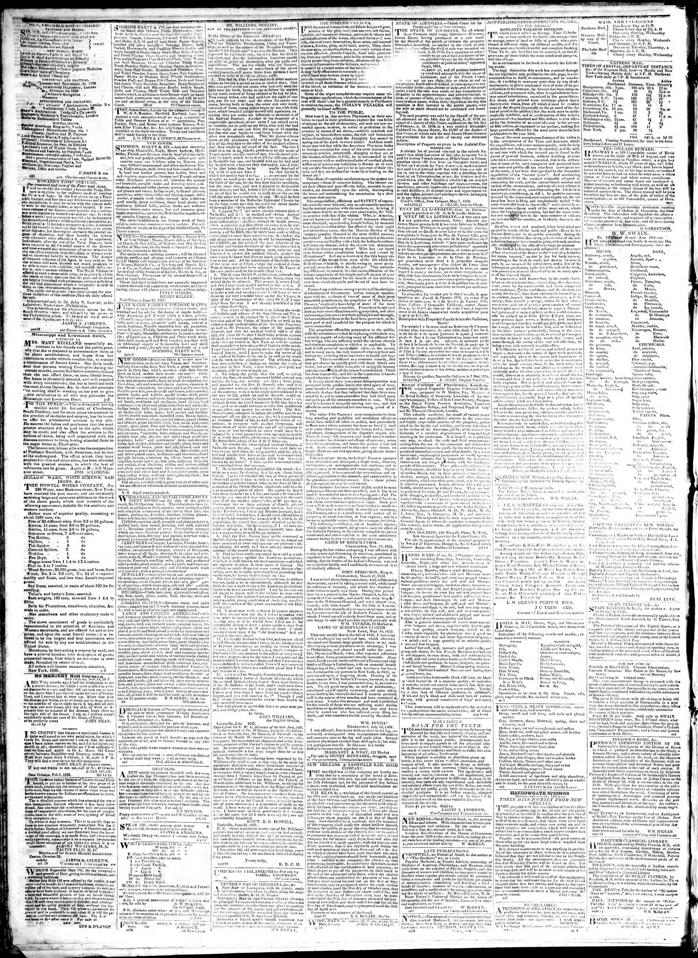 Newspaper of True American dated January 26, 1839 Page 4