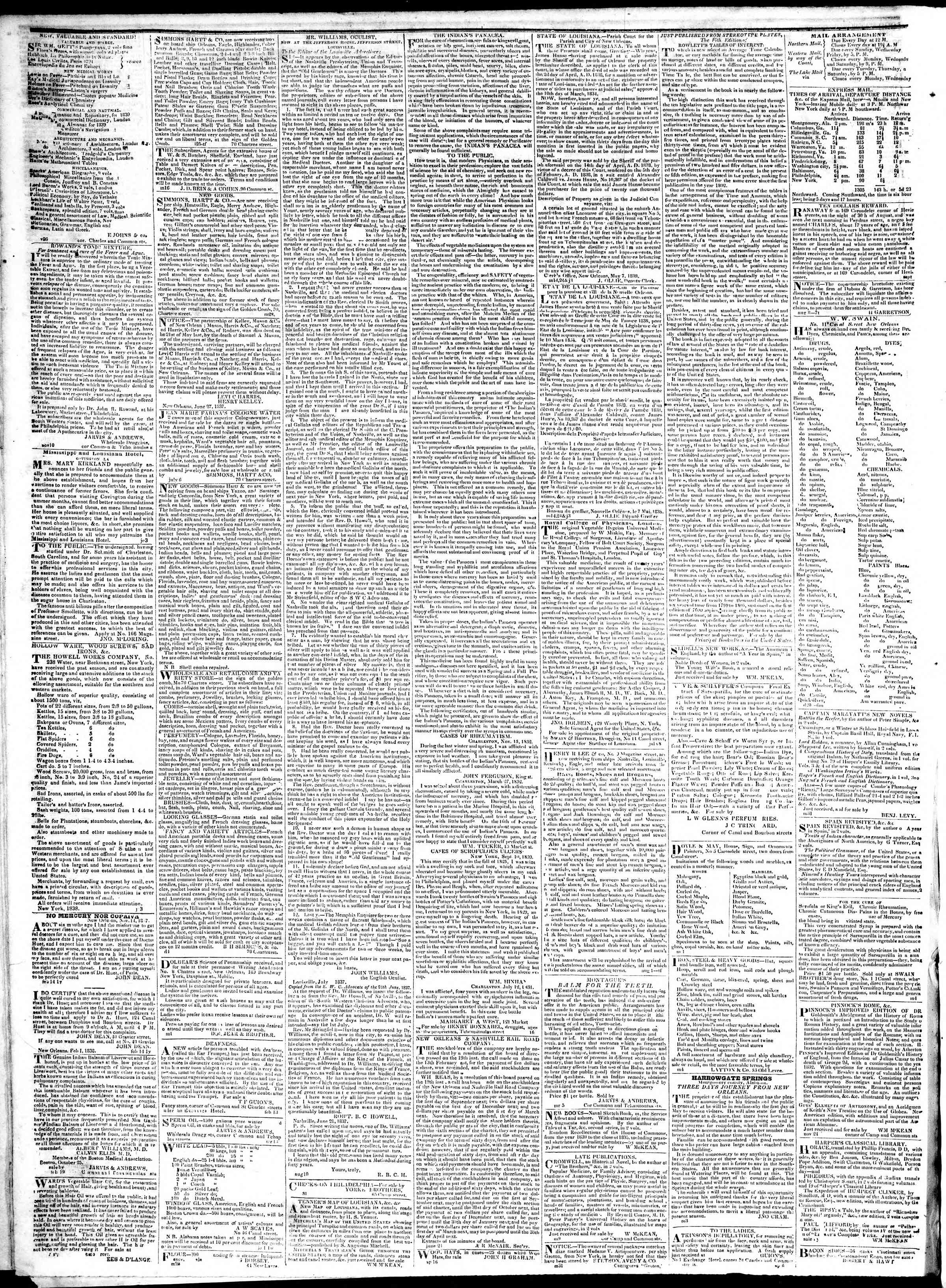 Newspaper of True American dated January 29, 1839 Page 4
