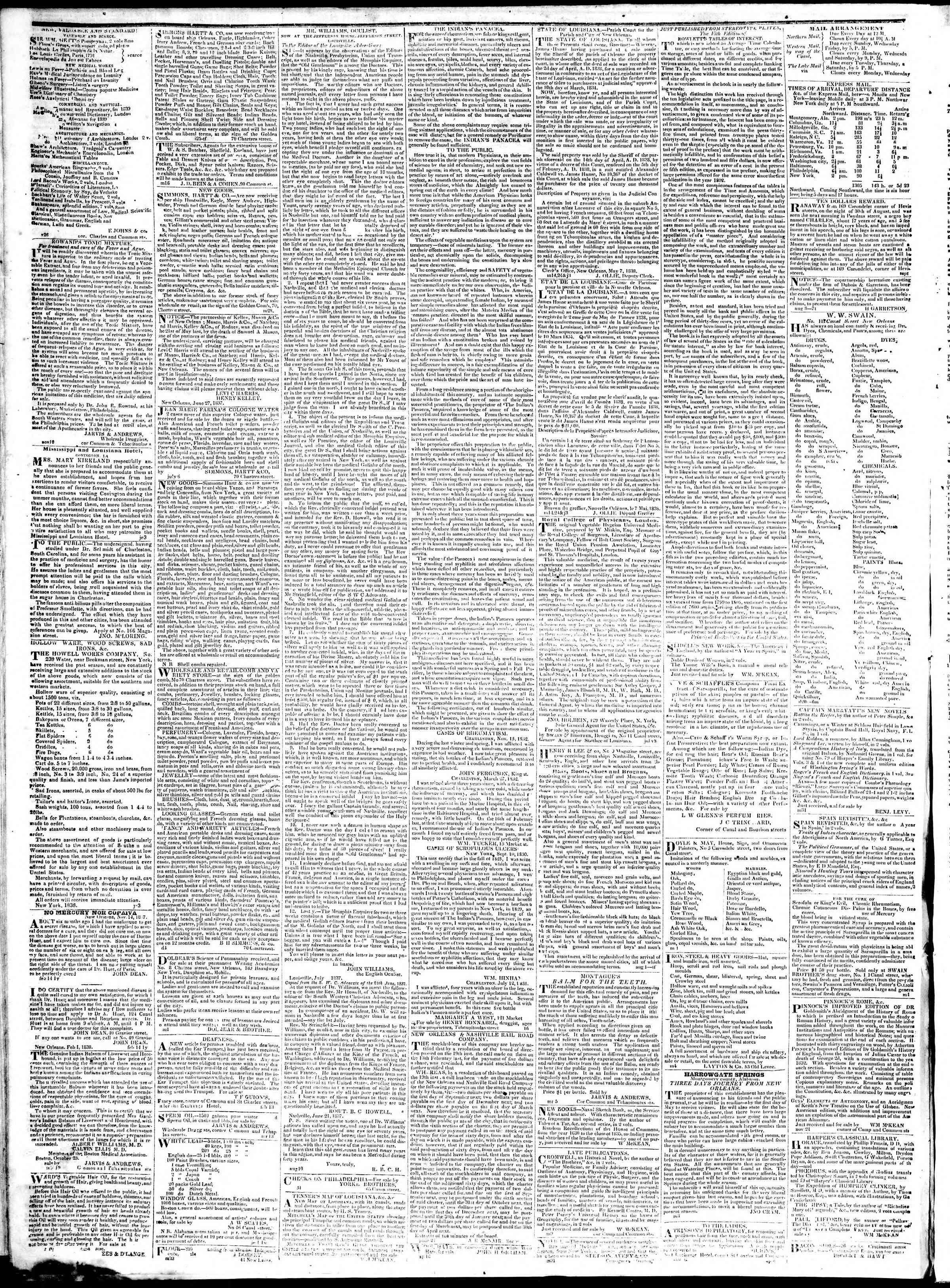 January 30, 1839 Tarihli True American Gazetesi Sayfa 4