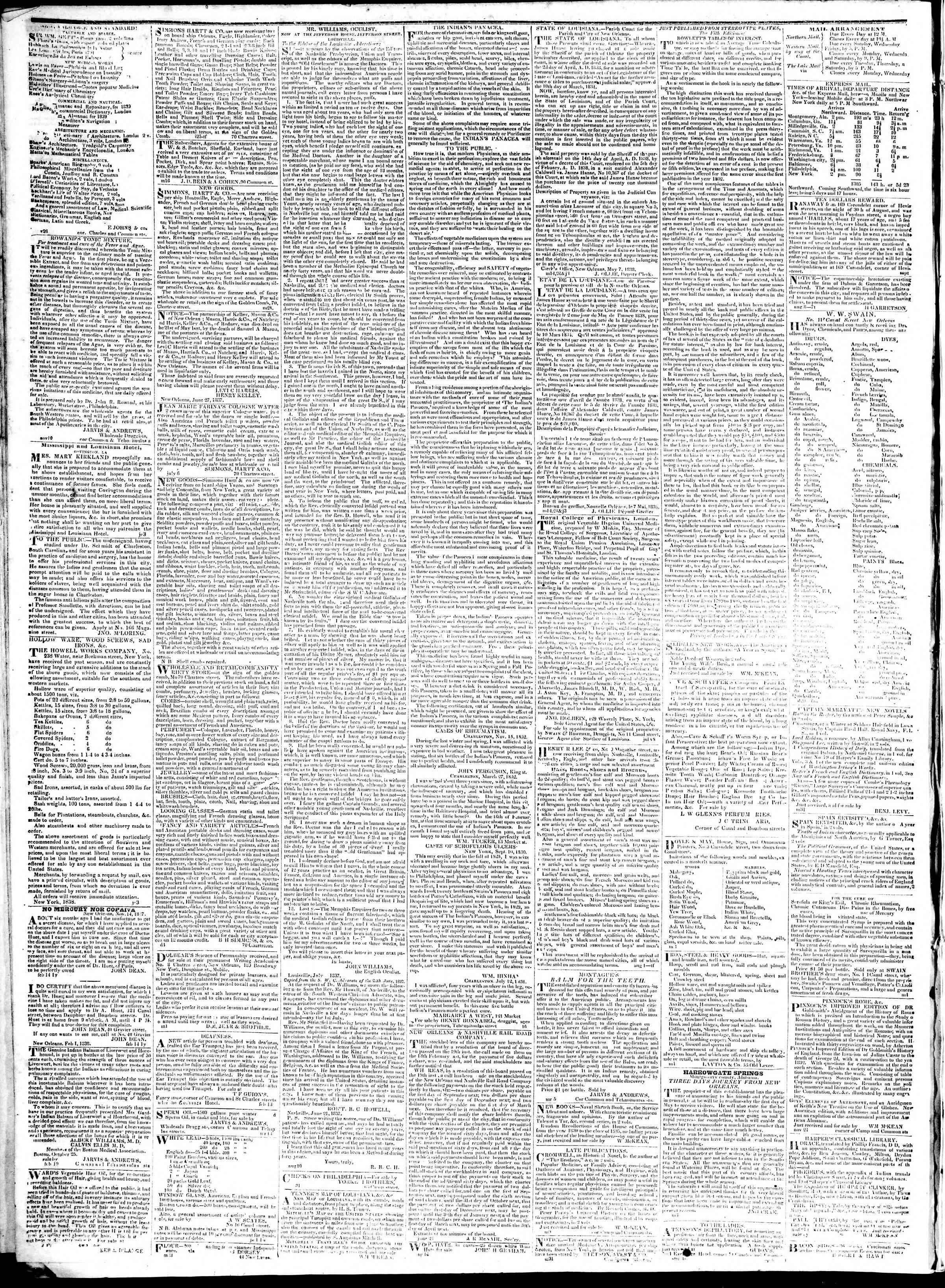 January 31, 1839 Tarihli True American Gazetesi Sayfa 4