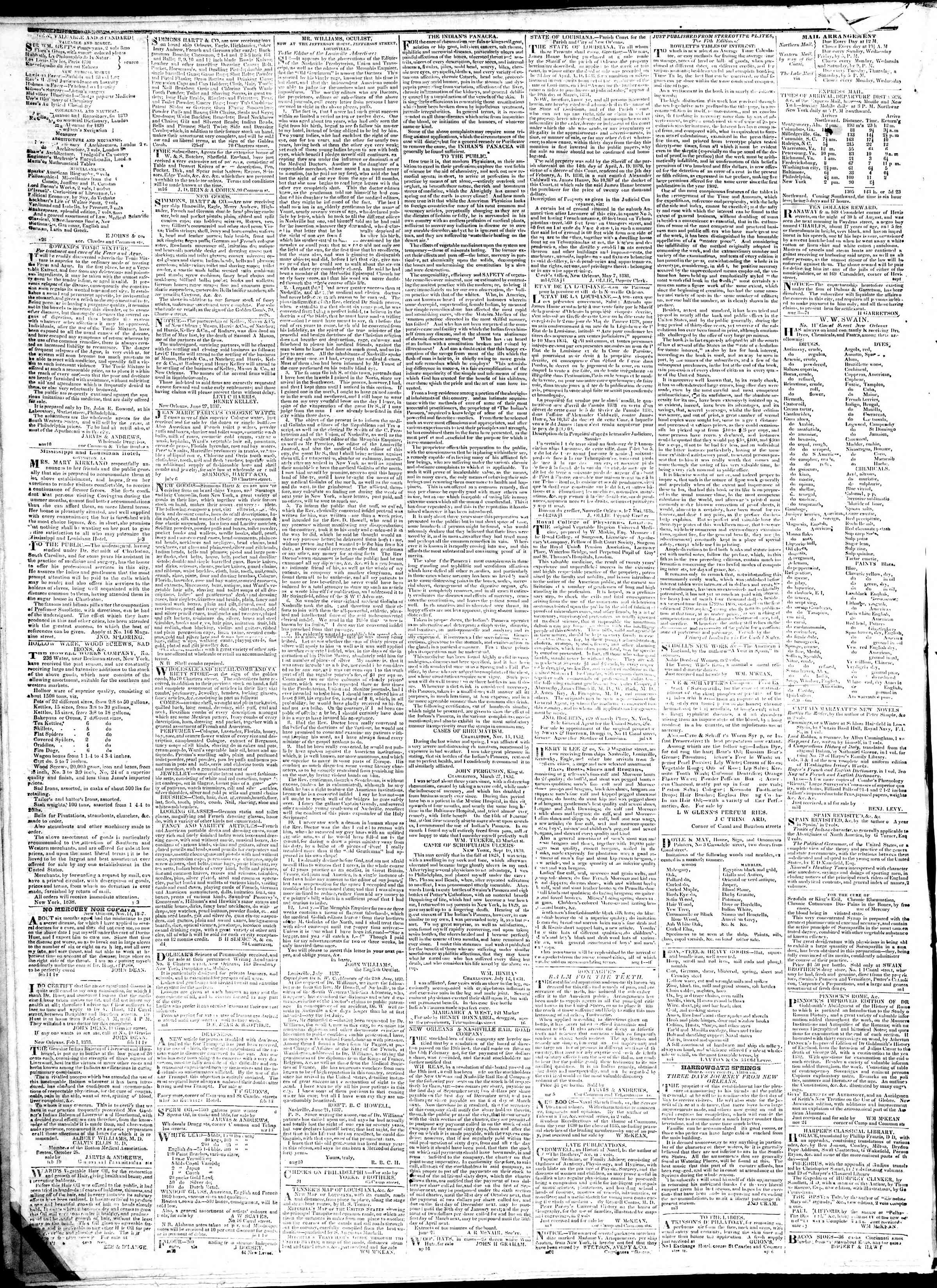 Newspaper of True American dated February 2, 1839 Page 4