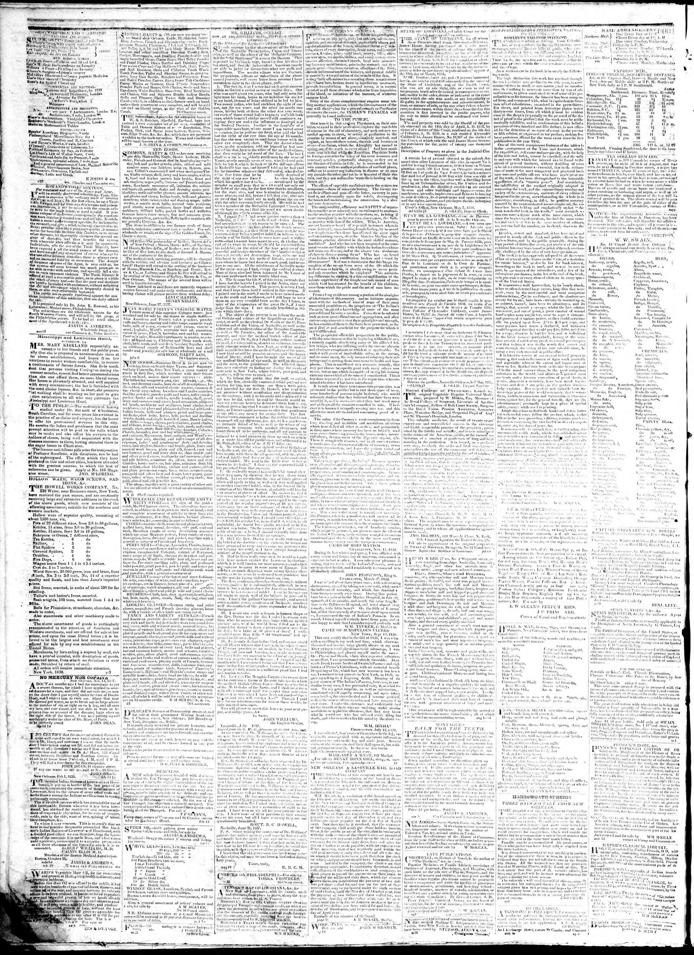 February 4, 1839 Tarihli True American Gazetesi Sayfa 4