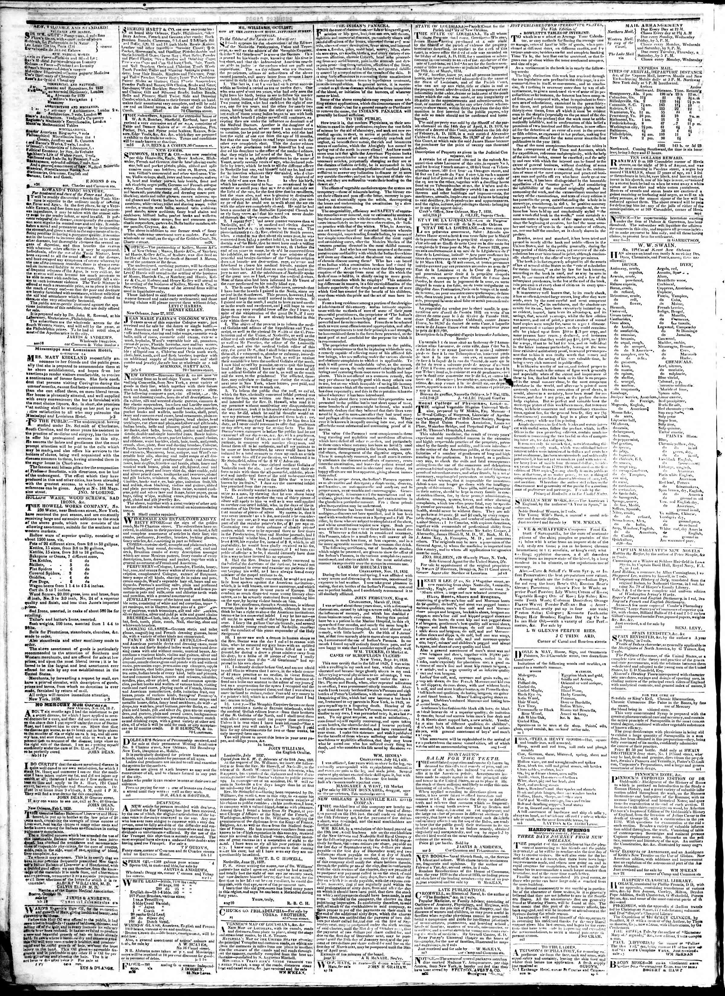 February 5, 1839 Tarihli True American Gazetesi Sayfa 4
