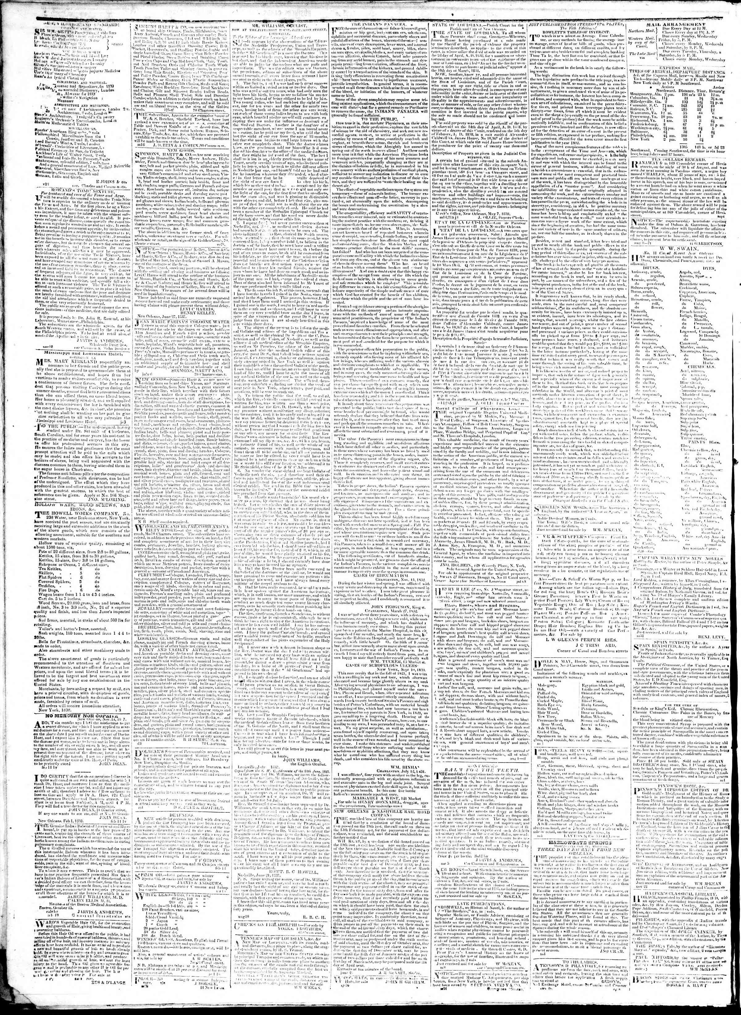 February 6, 1839 Tarihli True American Gazetesi Sayfa 4
