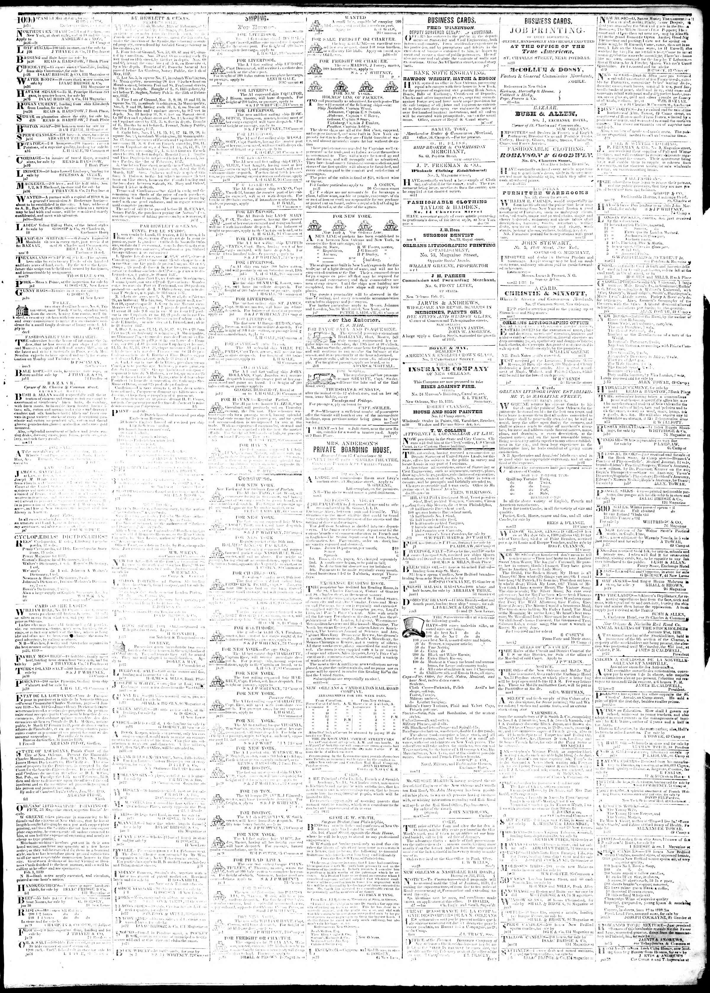 Newspaper of True American dated February 7, 1839 Page 3