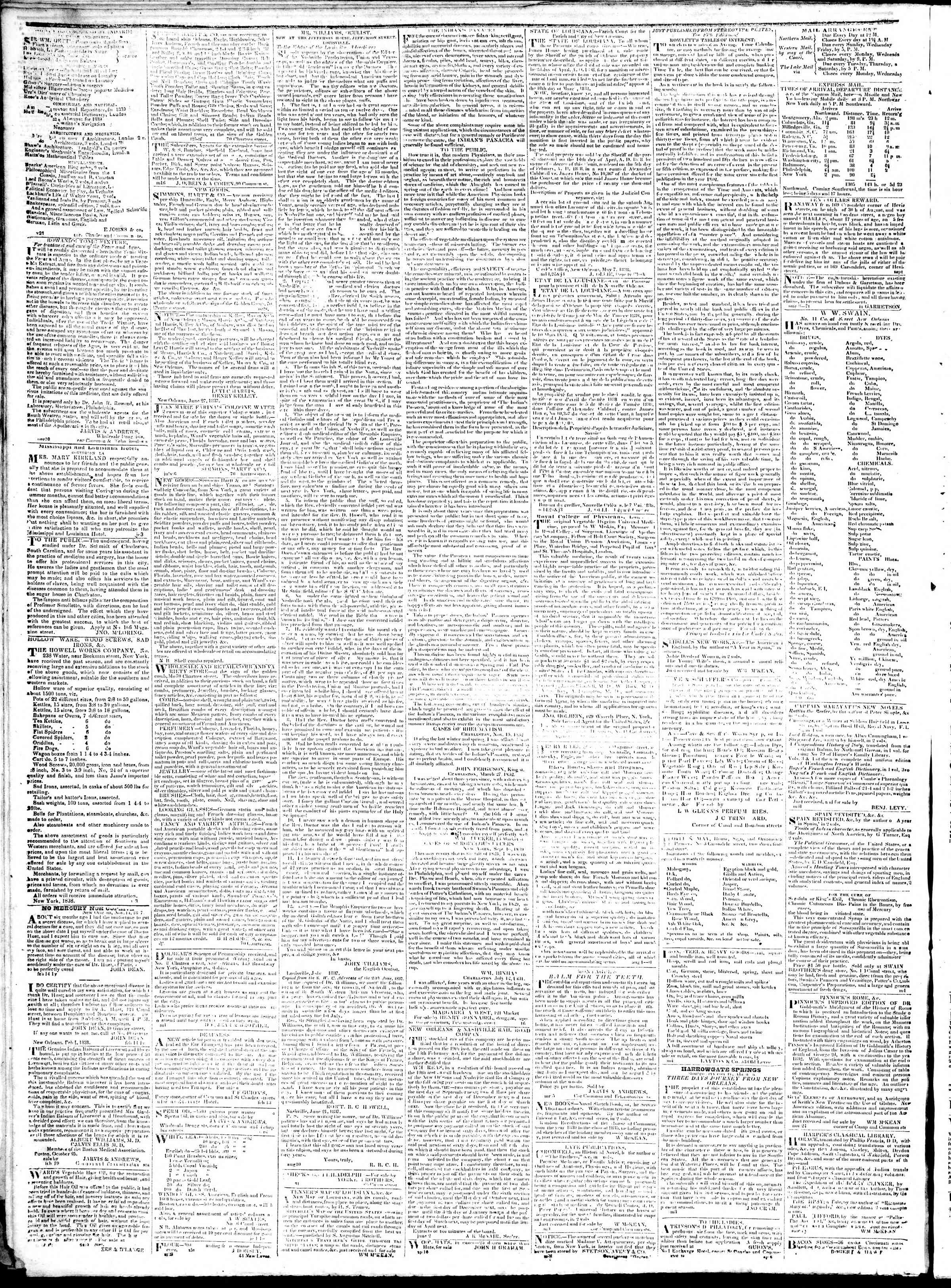 Newspaper of True American dated February 7, 1839 Page 4