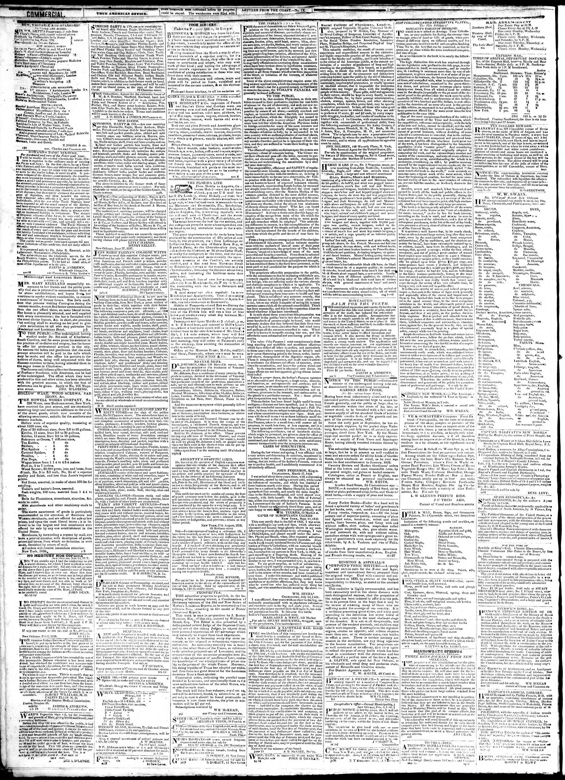 February 8, 1839 Tarihli True American Gazetesi Sayfa 4