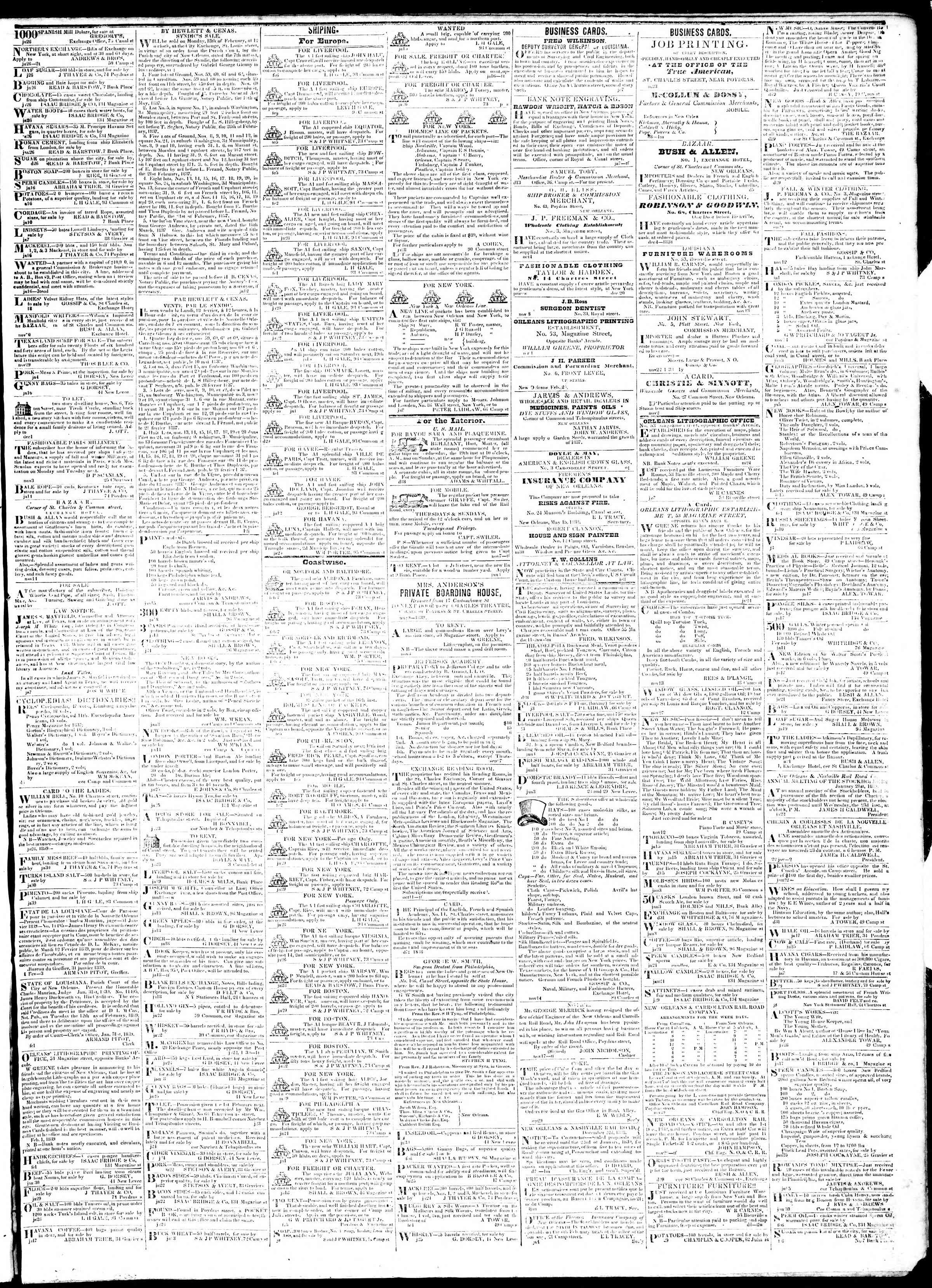 Newspaper of True American dated February 9, 1839 Page 3