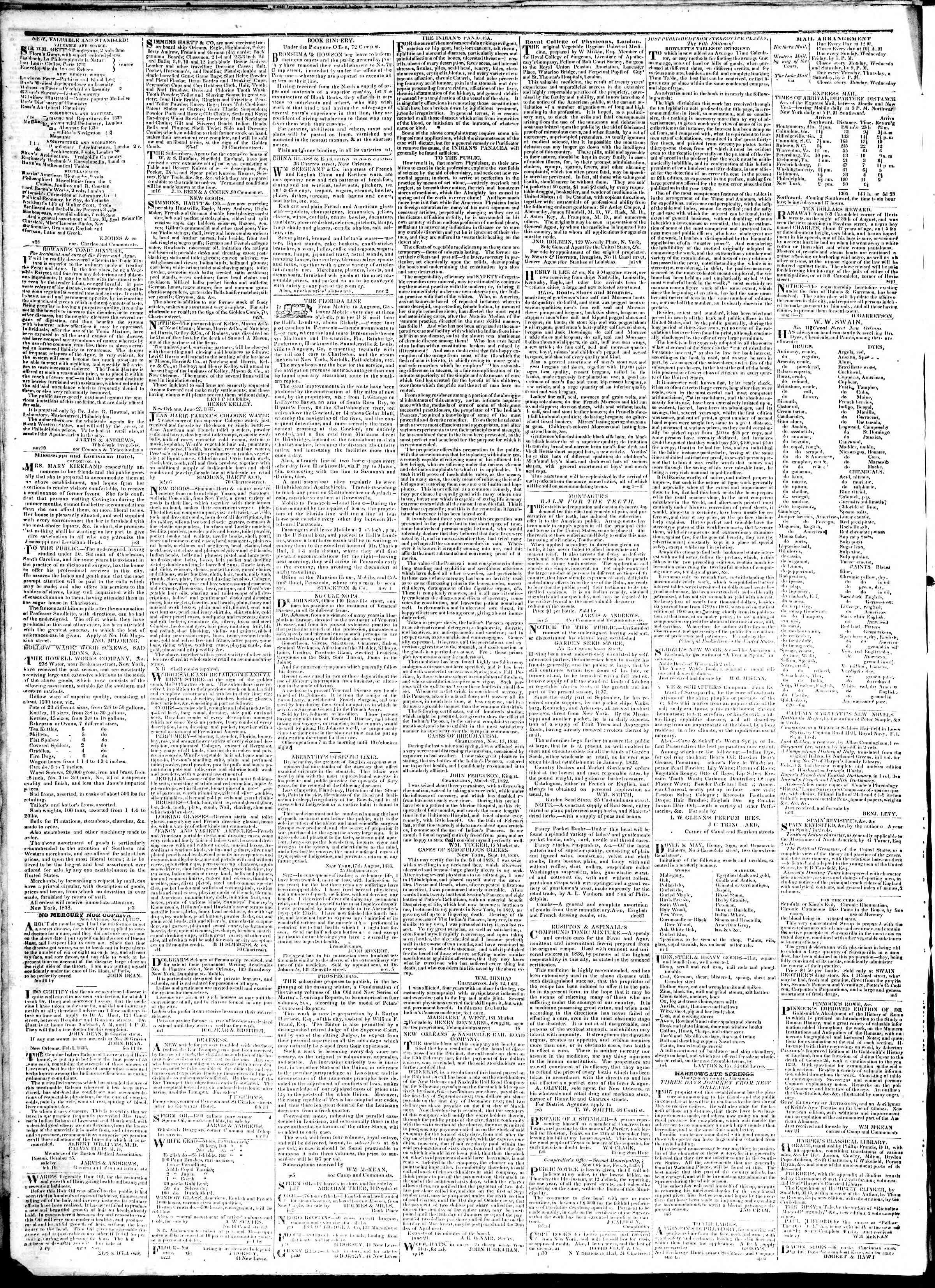 February 11, 1839 Tarihli True American Gazetesi Sayfa 4