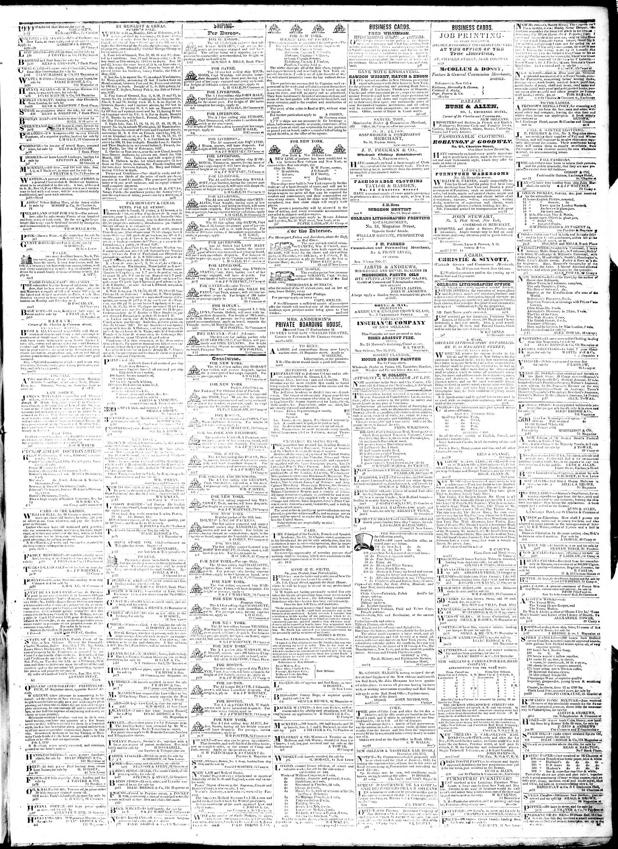Newspaper of True American dated February 13, 1839 Page 3