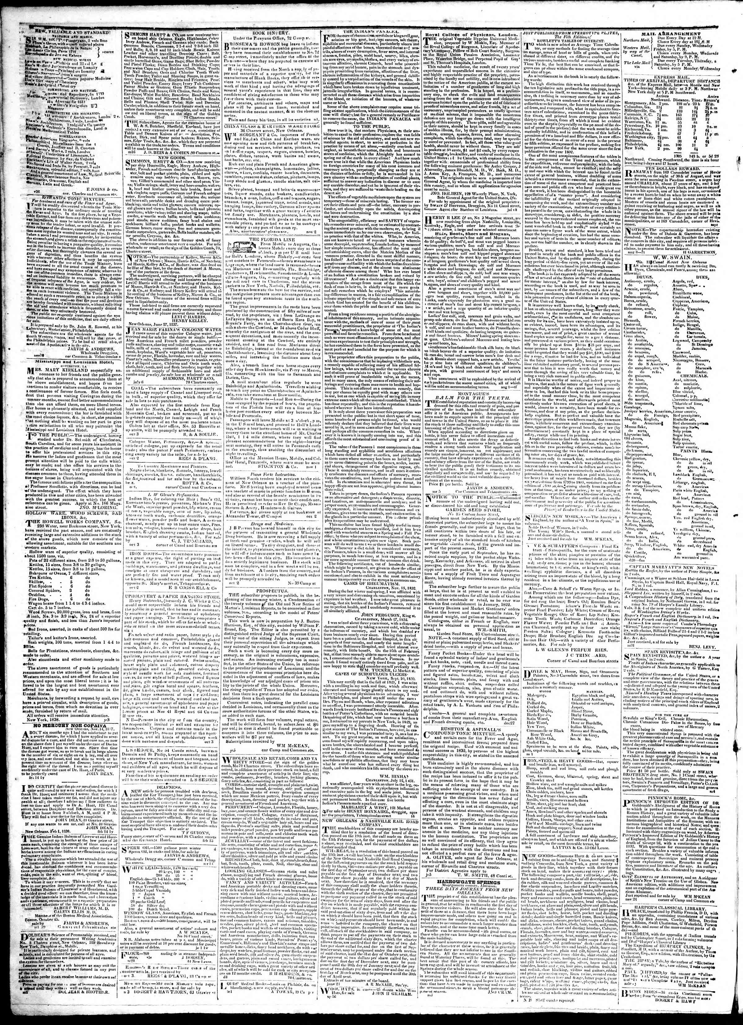 Newspaper of True American dated February 13, 1839 Page 4