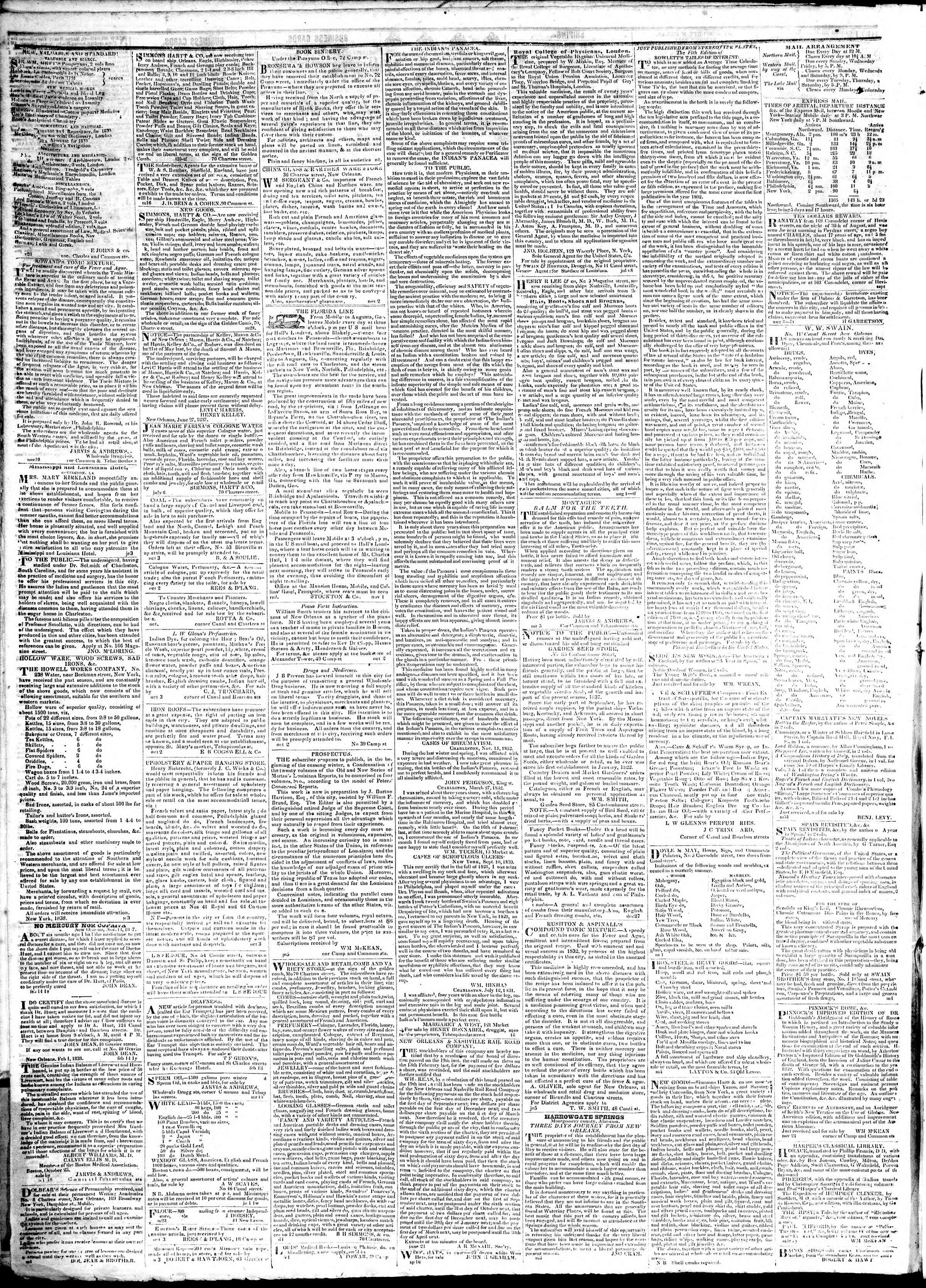 Newspaper of True American dated February 15, 1839 Page 4