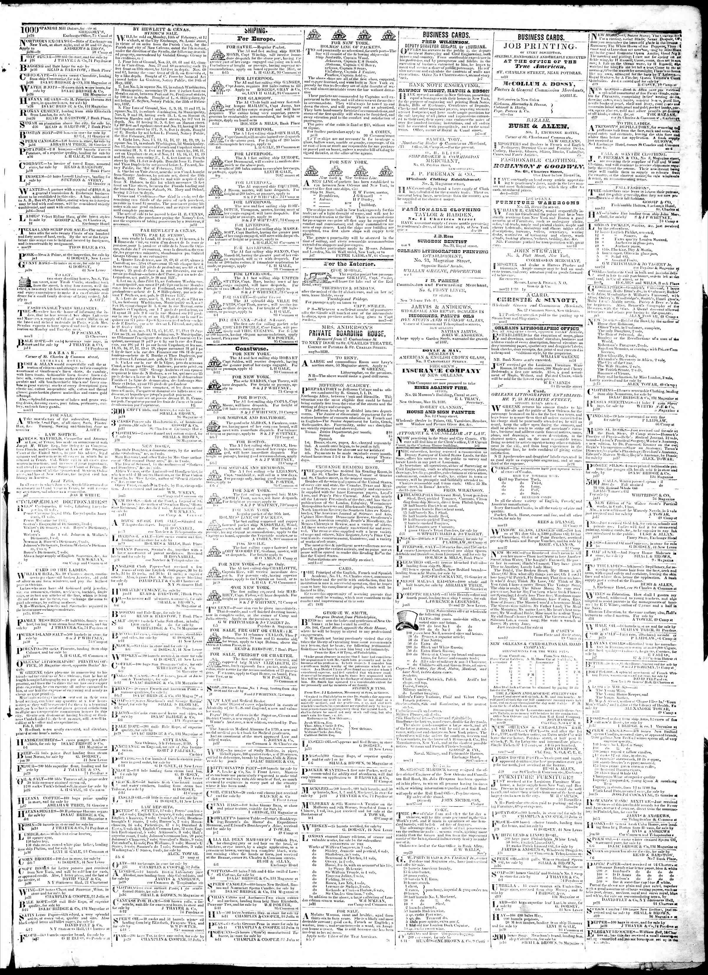 Newspaper of True American dated February 16, 1839 Page 3