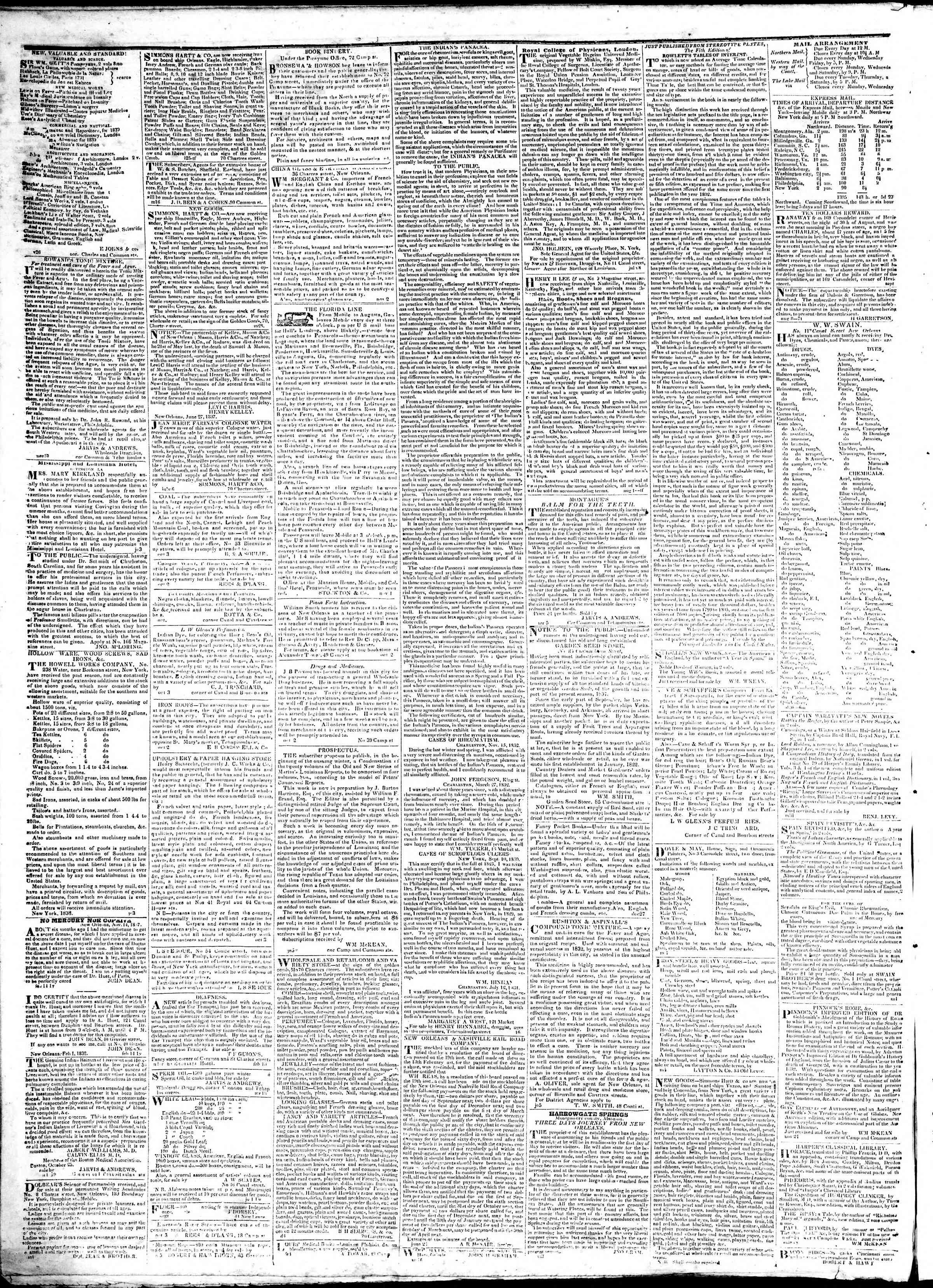 February 16, 1839 Tarihli True American Gazetesi Sayfa 4