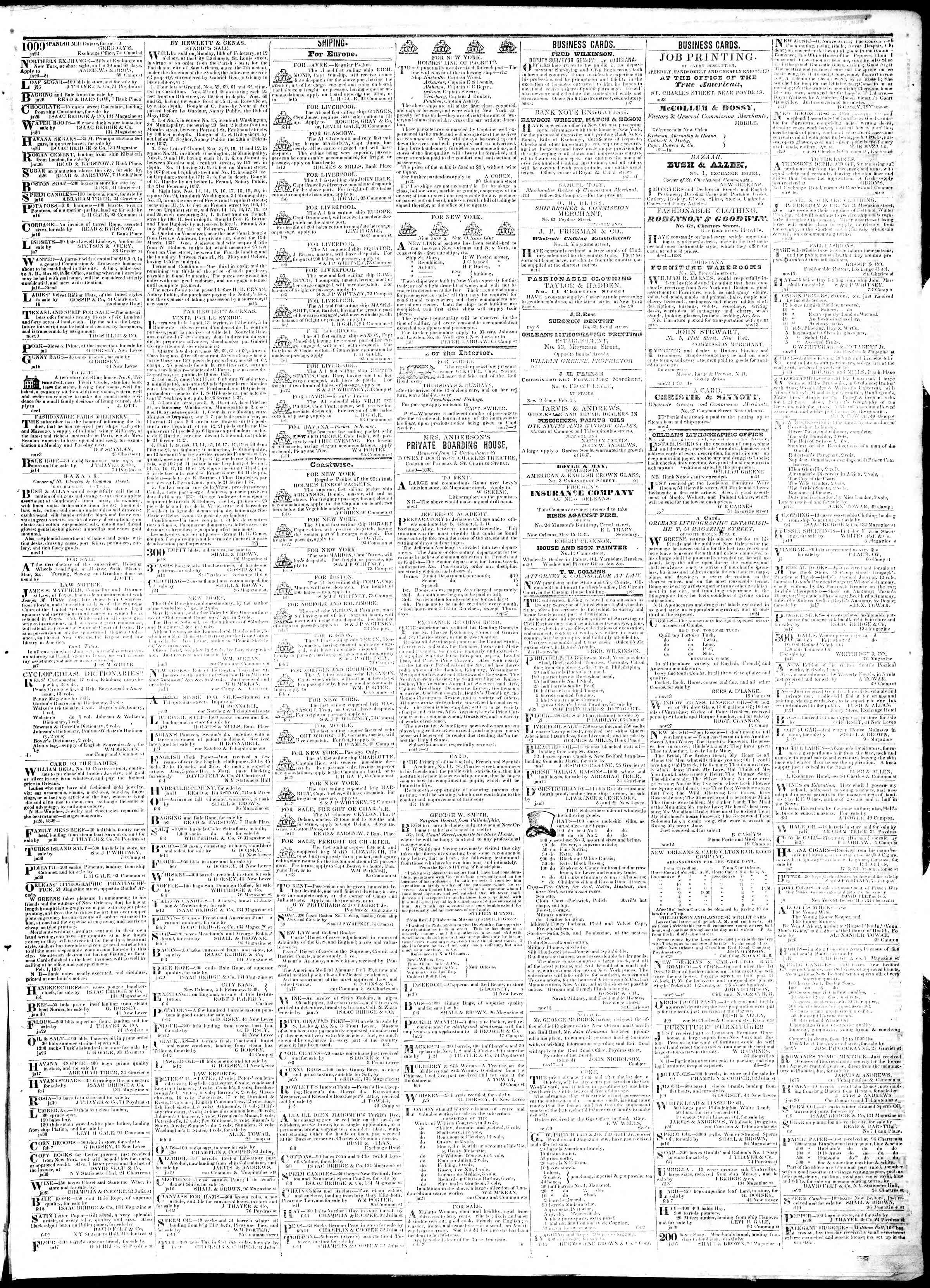 Newspaper of True American dated February 18, 1839 Page 3