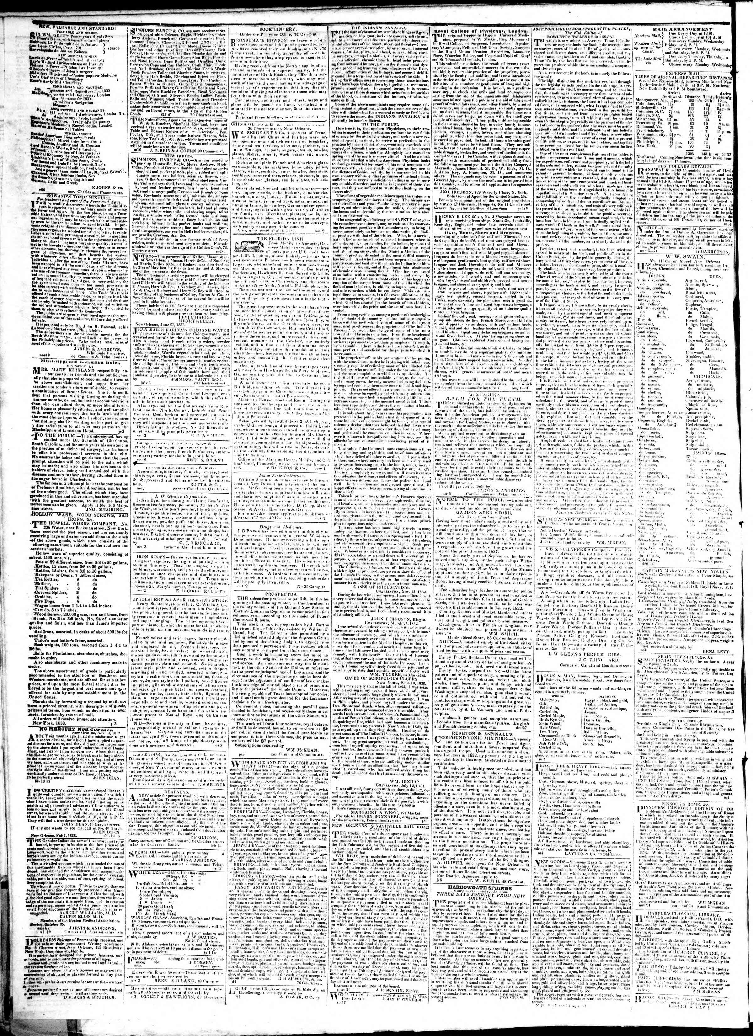 Newspaper of True American dated February 18, 1839 Page 4