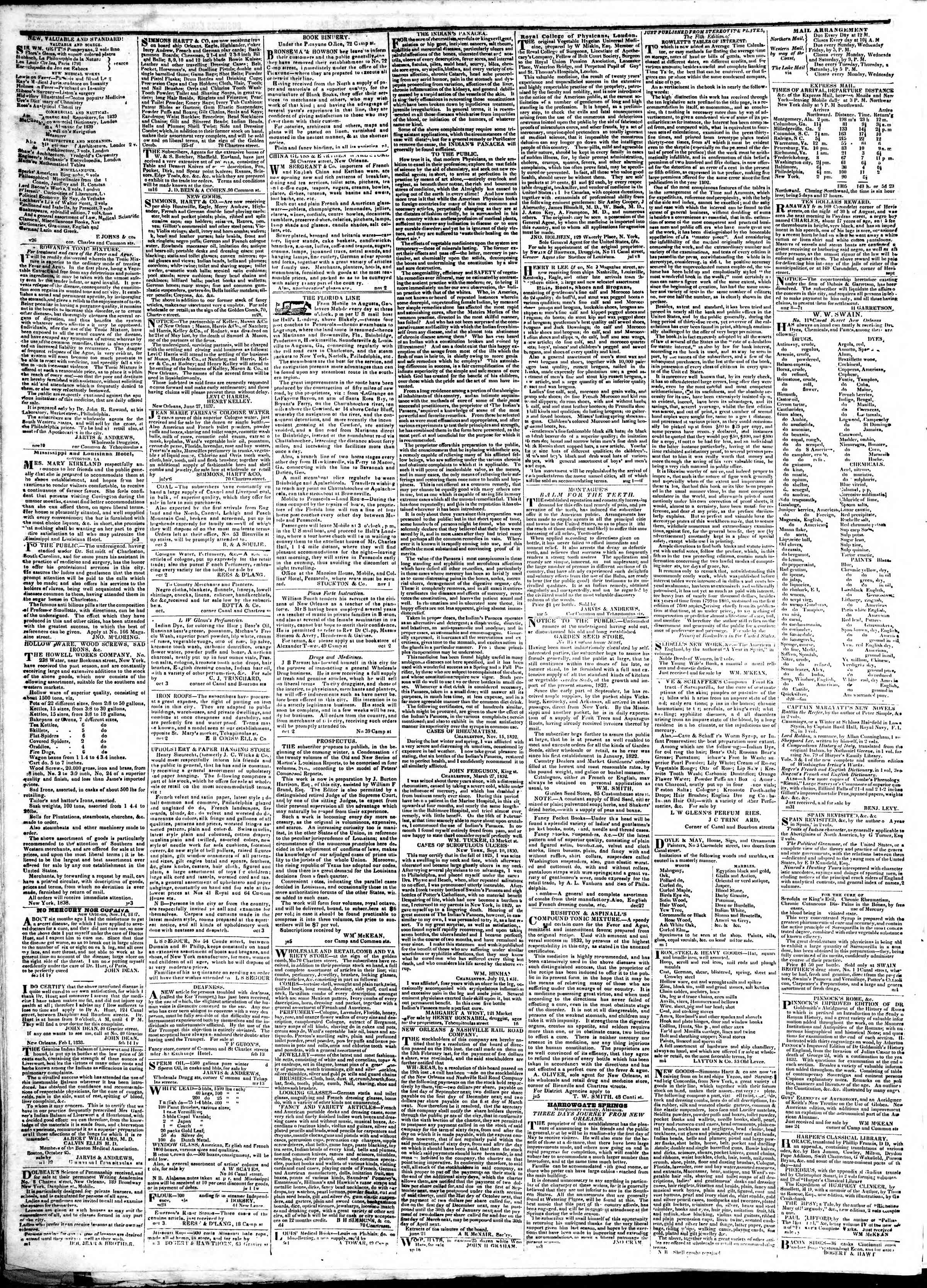 Newspaper of True American dated February 19, 1839 Page 4