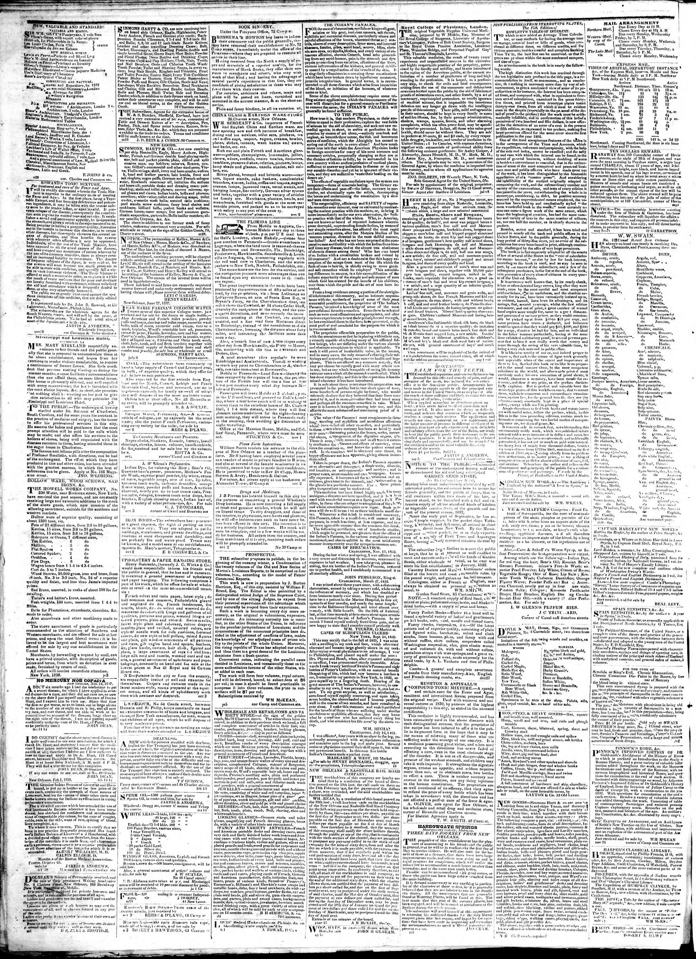 Newspaper of True American dated February 21, 1839 Page 4